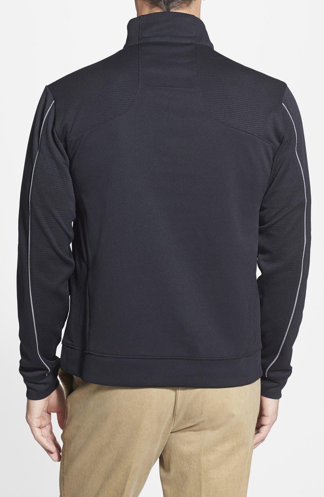 Atlanta Falcons - Edge DryTec Moisture Wicking Half Zip Pullover,                             Alternate thumbnail 2, color,                             Black