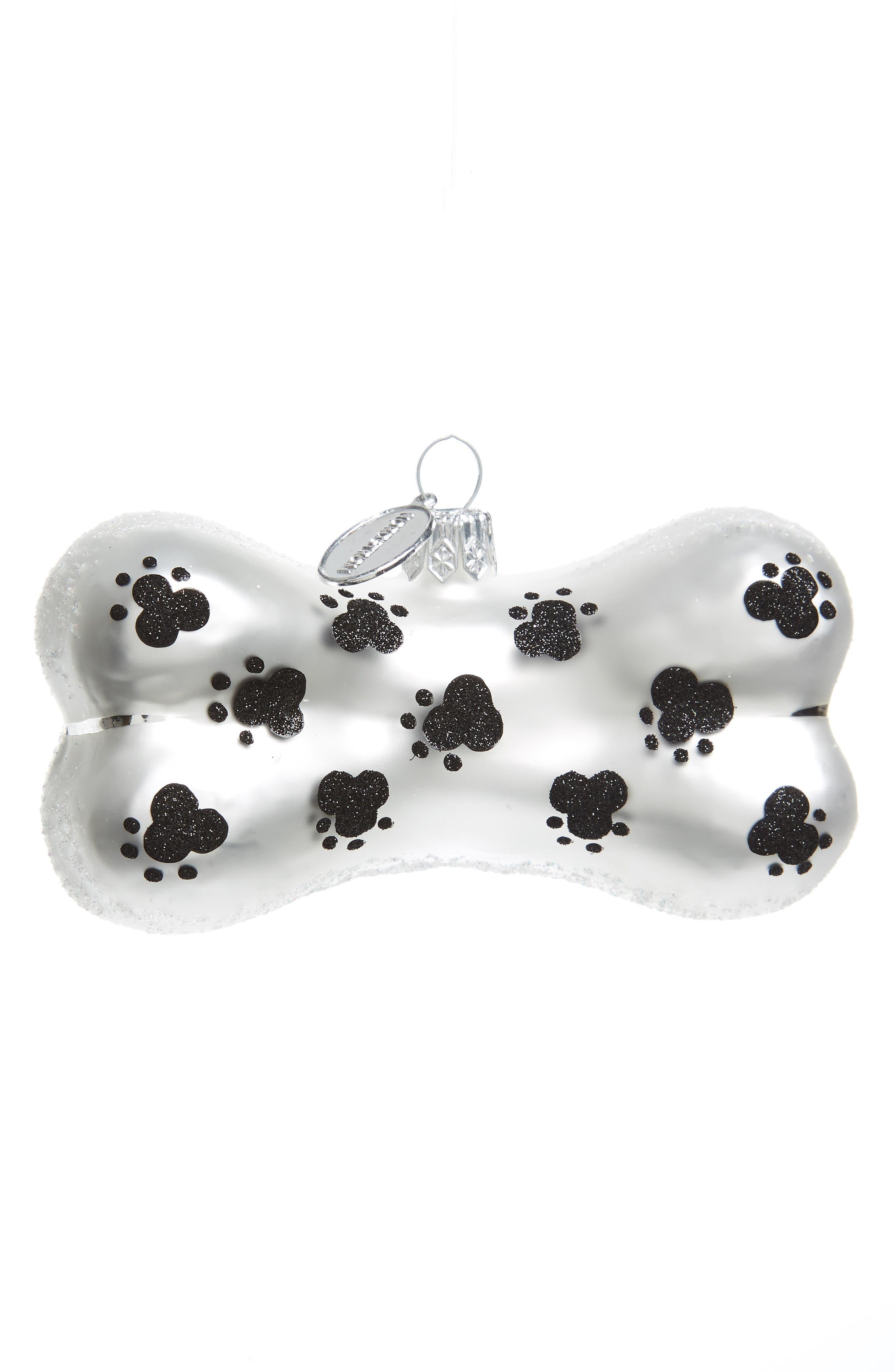 Dog Glass Ornament,                         Main,                         color, Black