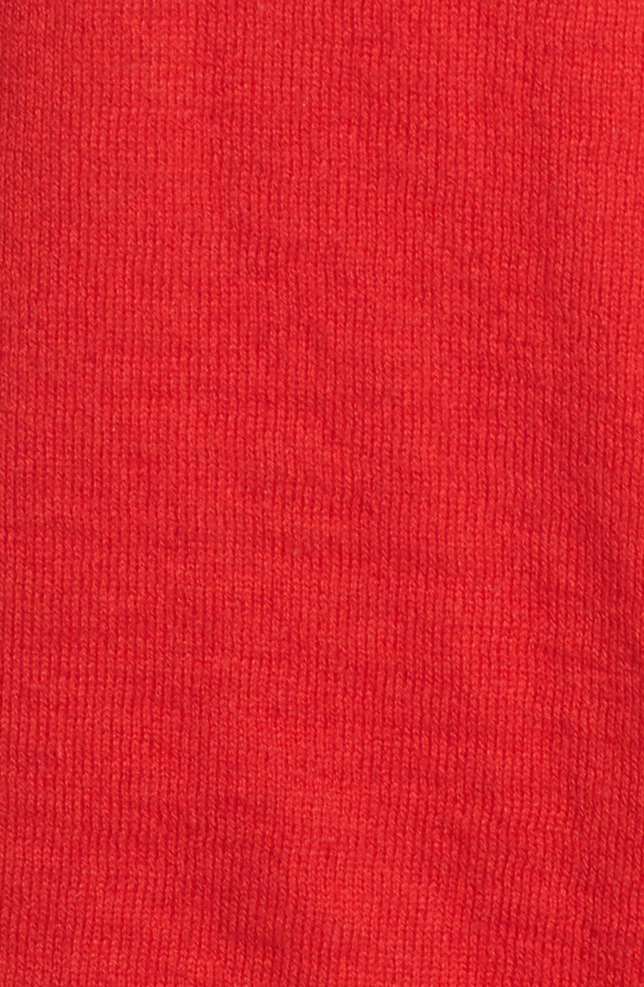 Weekends Intarsia Sweater,                             Alternate thumbnail 6, color,                             Cardinal