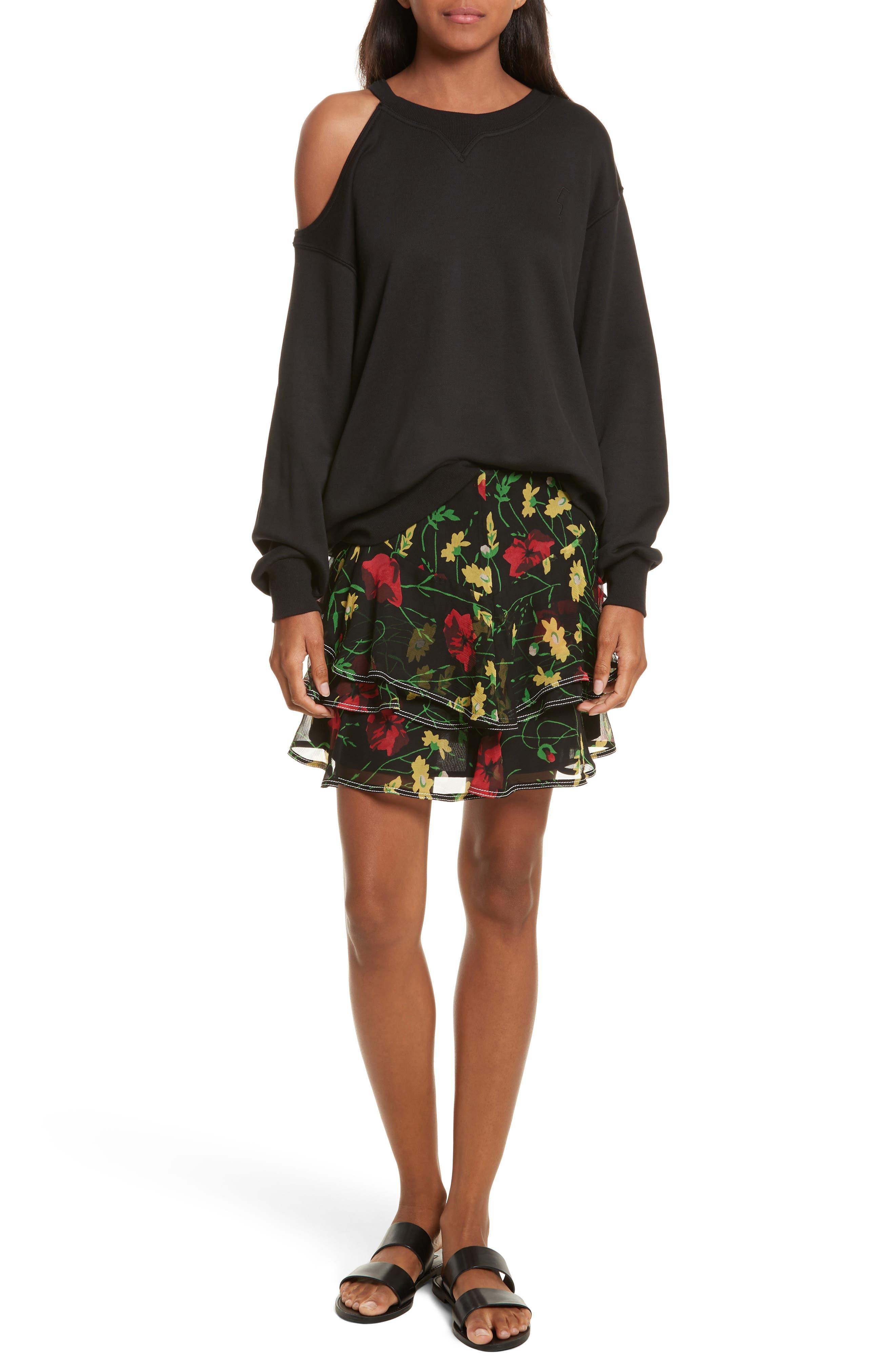 Alternate Image 2  - GREY Jason Wu Asymmetrical Cold Shoulder Sweatshirt