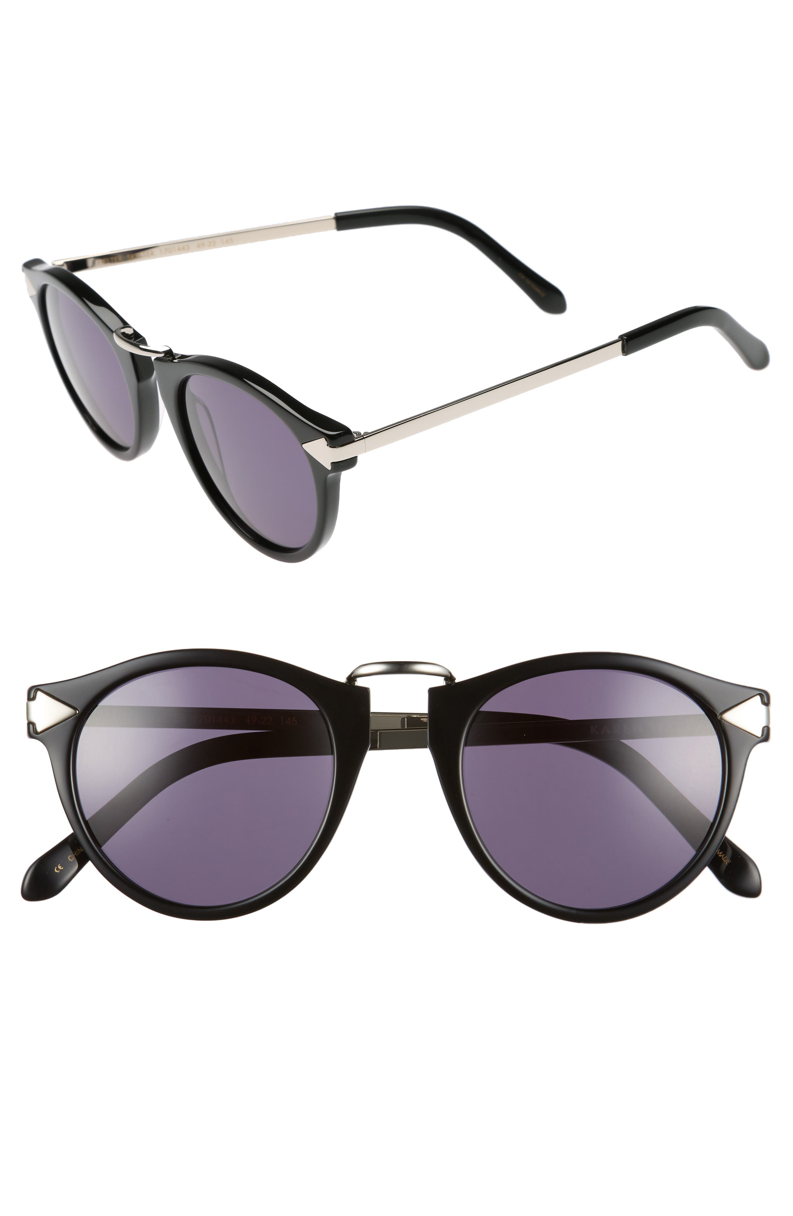 Karen Walker 49MM SUNGLASSES - BLACK