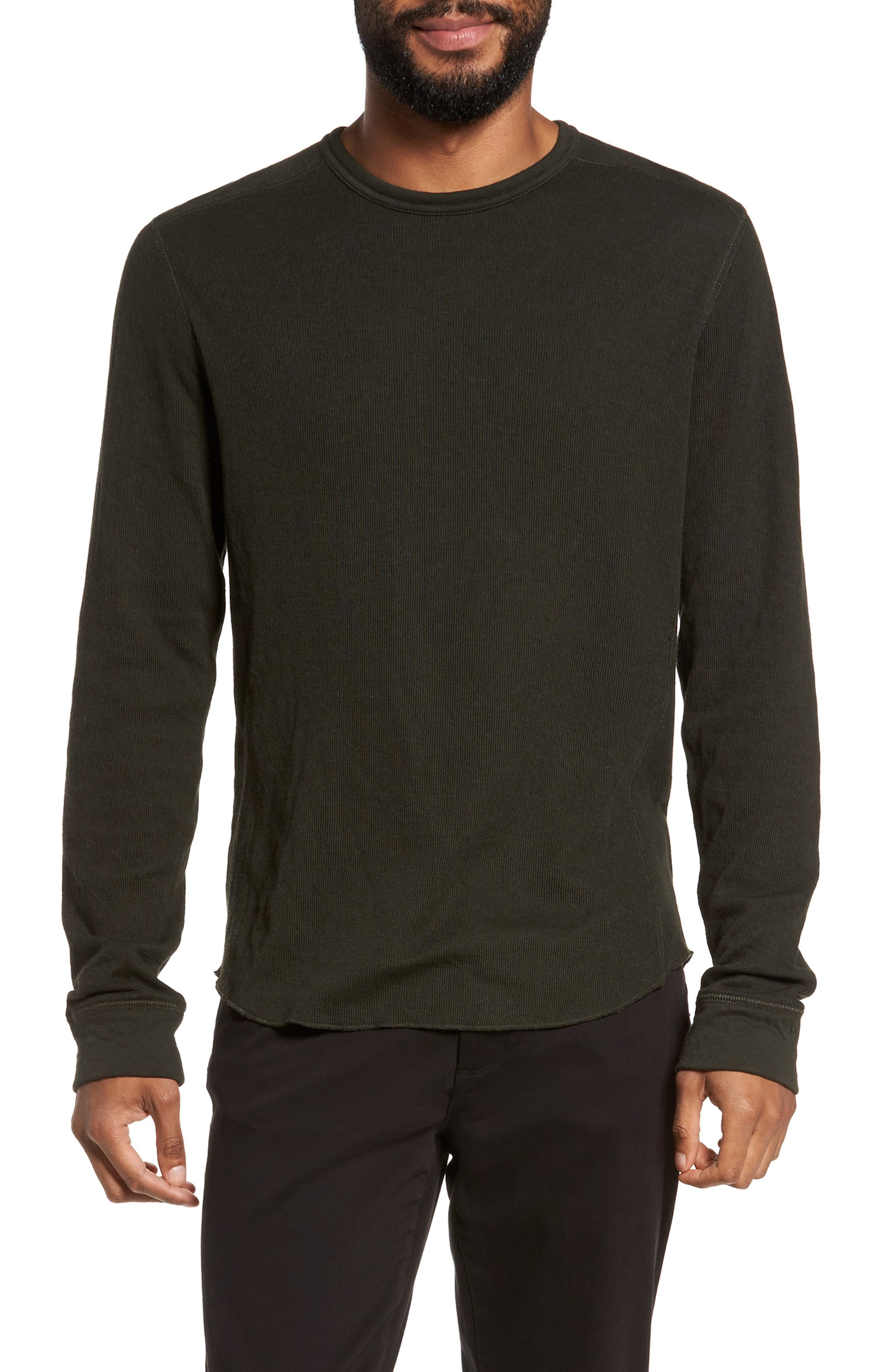 Alternate Image 1 Selected - Vince Double Knit Long Sleeve T-Shirt