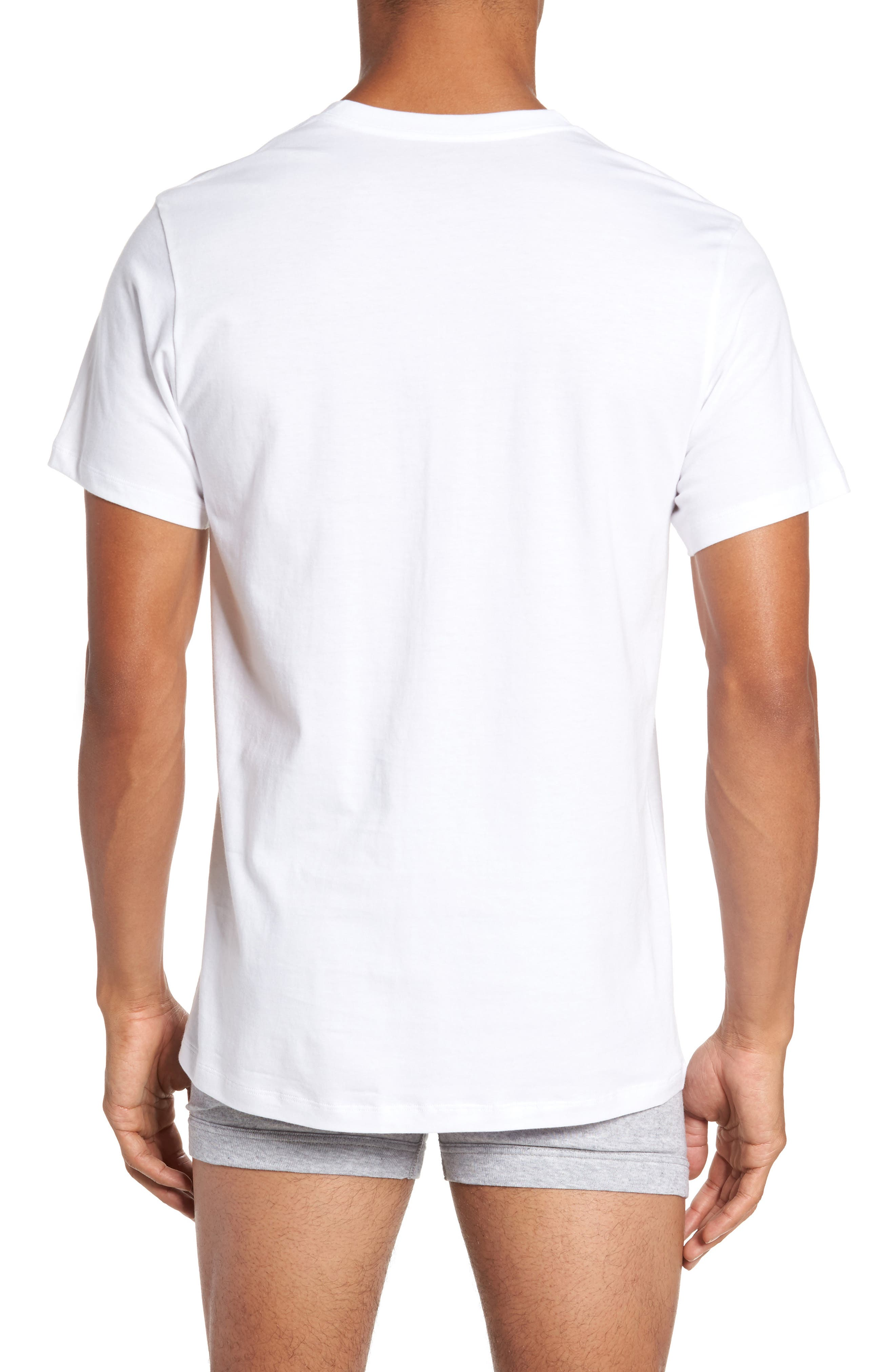 4-Pack V-Neck T-Shirt,                             Alternate thumbnail 2, color,                             White
