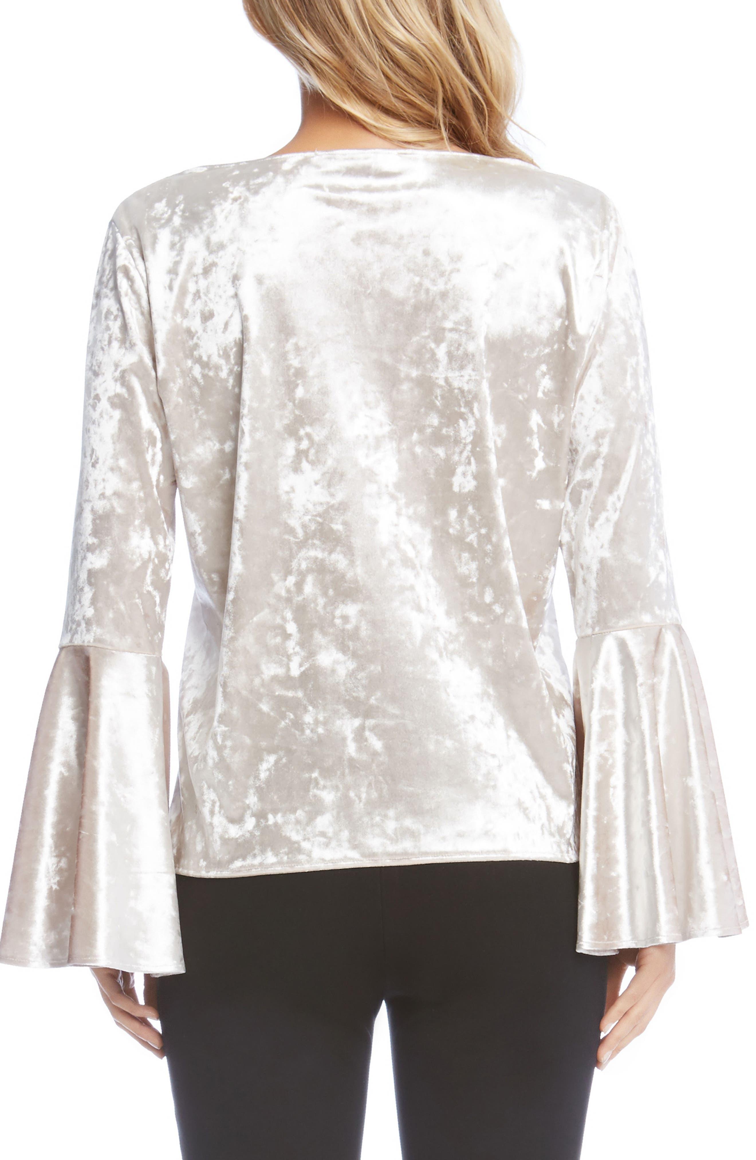 Alternate Image 3  - Karen Kane Crystal Velvet Bell Sleeve Top