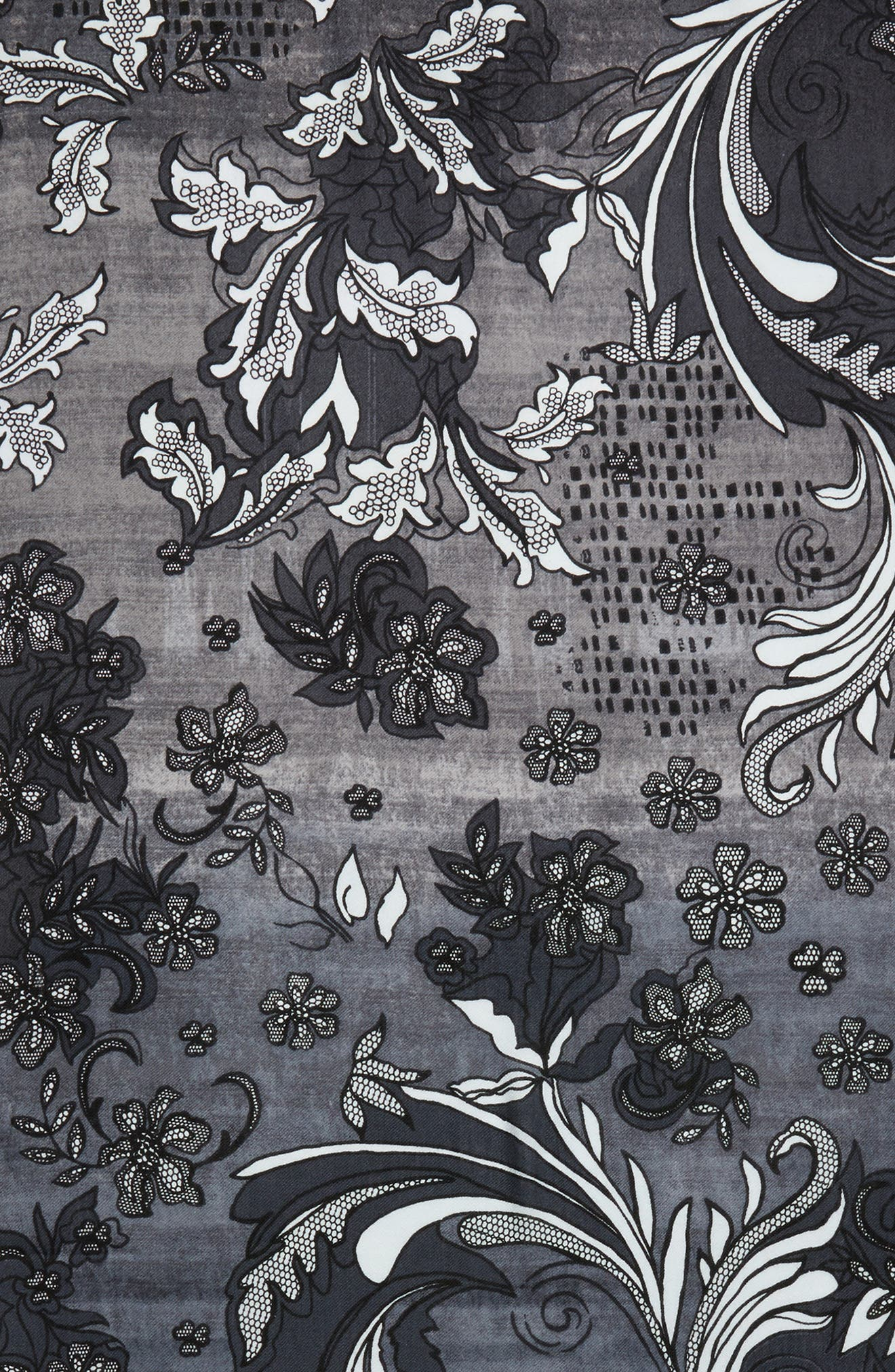 Alternate Image 3  - Nordstrom Viennese Floral Tissue Wool & Cashmere Scarf