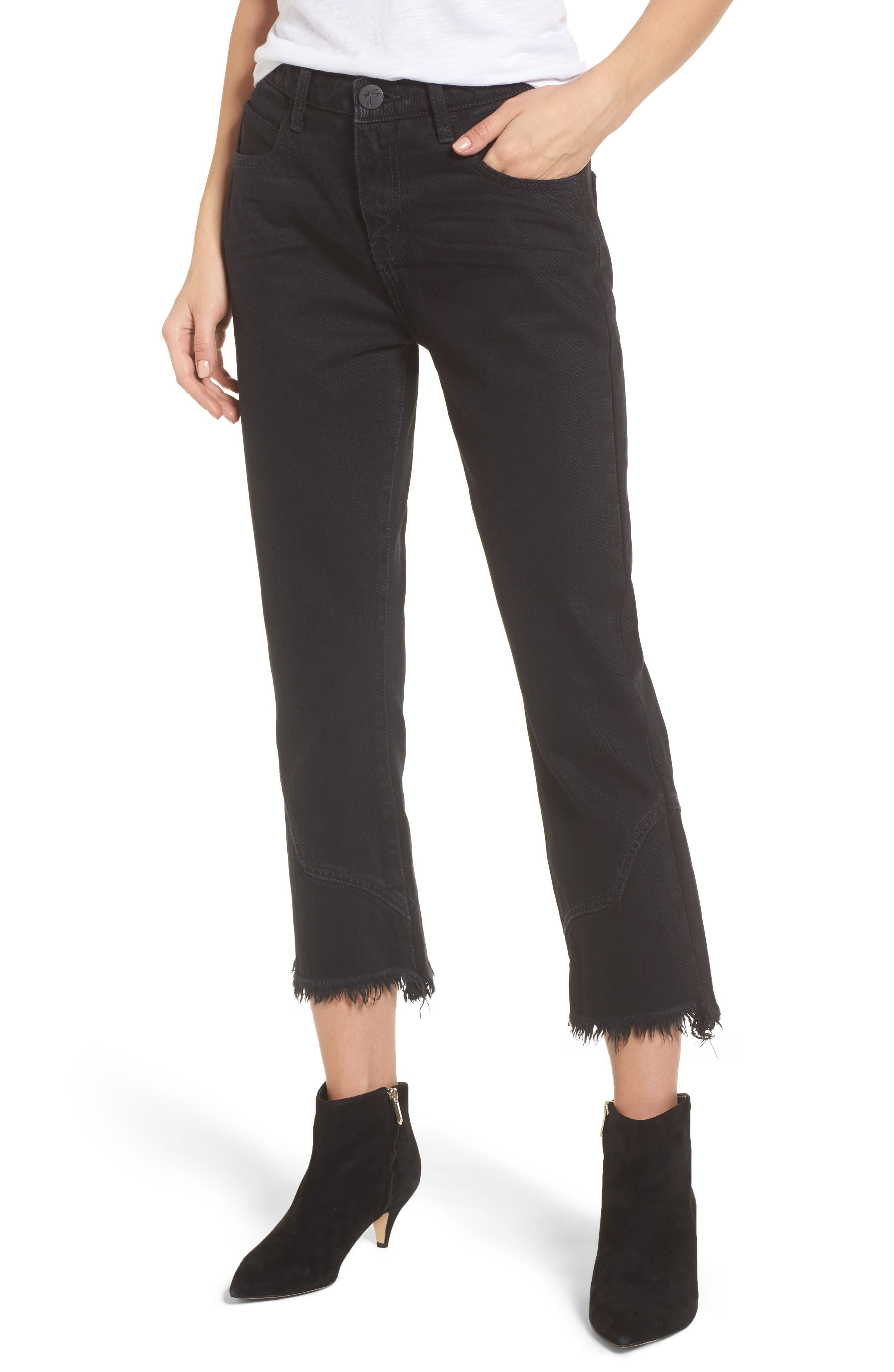 One Teaspoon Kicks Crop Flare Jeans