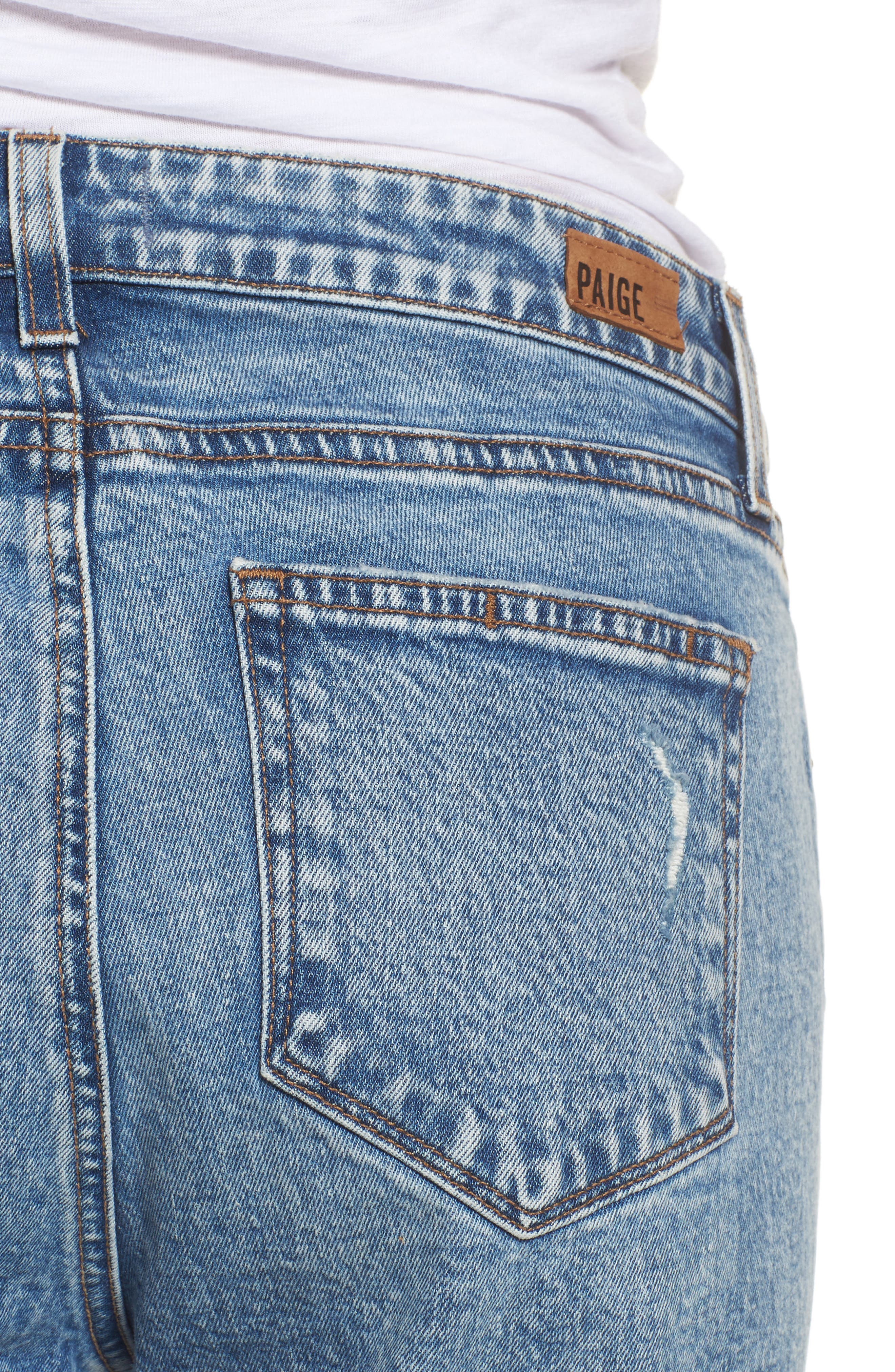 Noella Straight Leg Crop Jeans,                             Alternate thumbnail 5, color,                             Westlyn Destructed