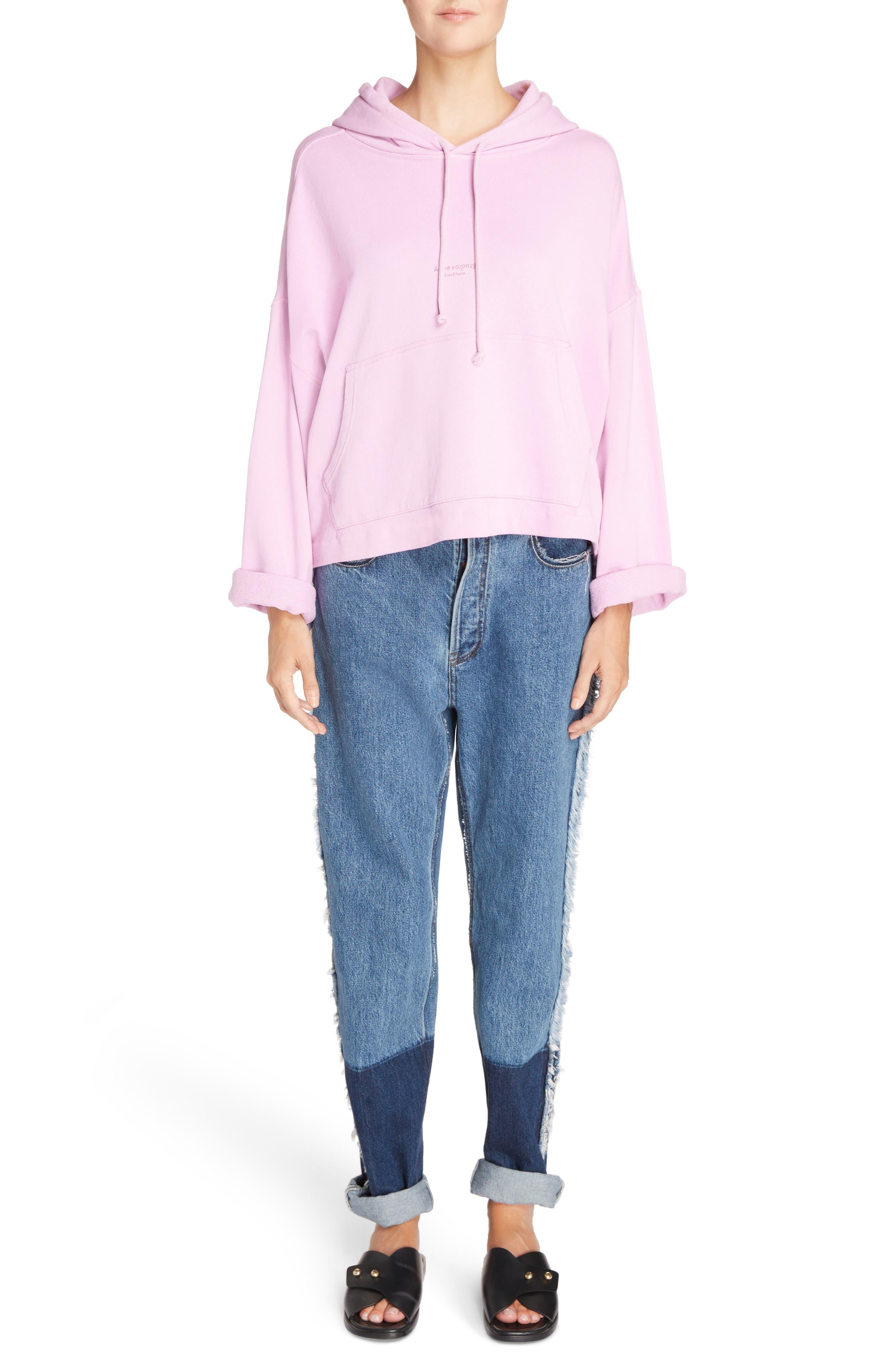 Mirja Frayed High Waist Straight Leg Jeans,                             Alternate thumbnail 8, color,                             Indigo Blue