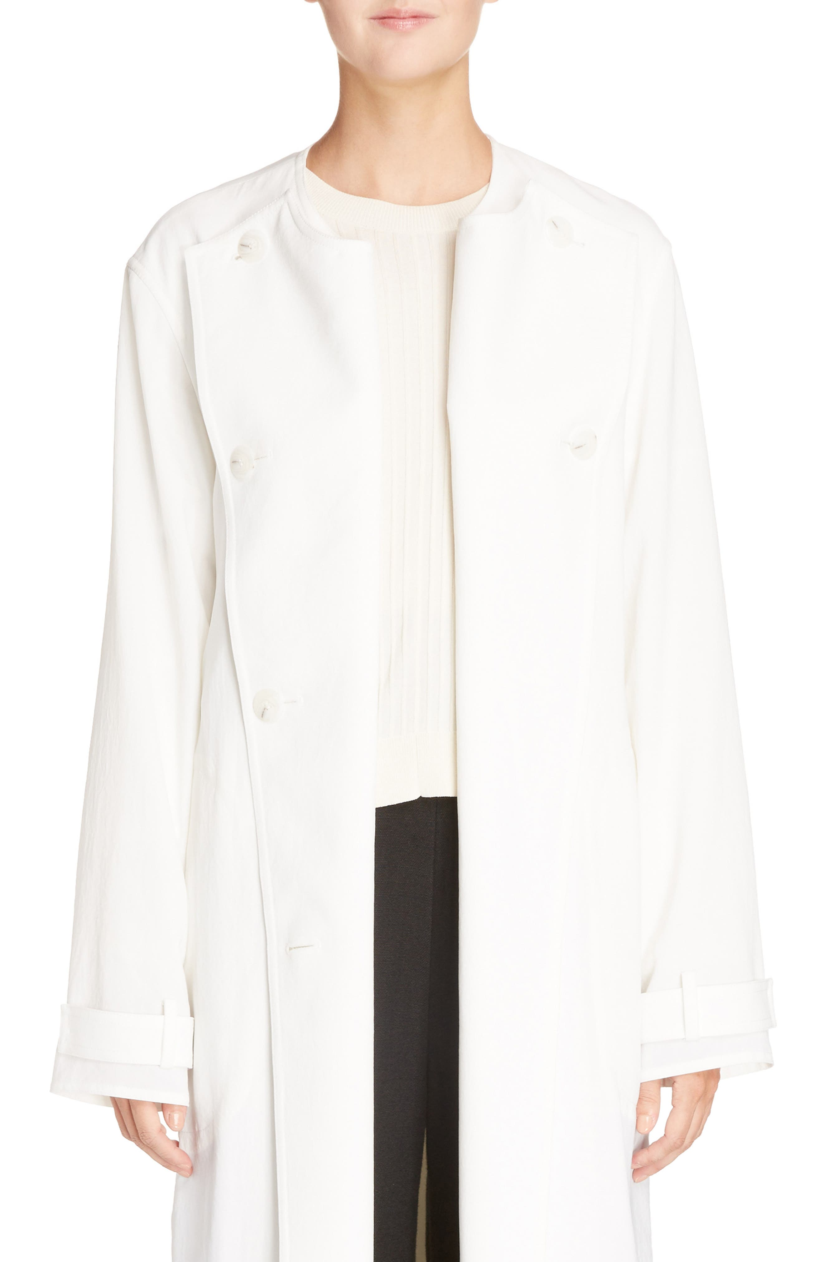 Angelica Twill Coat,                         Main,                         color, White