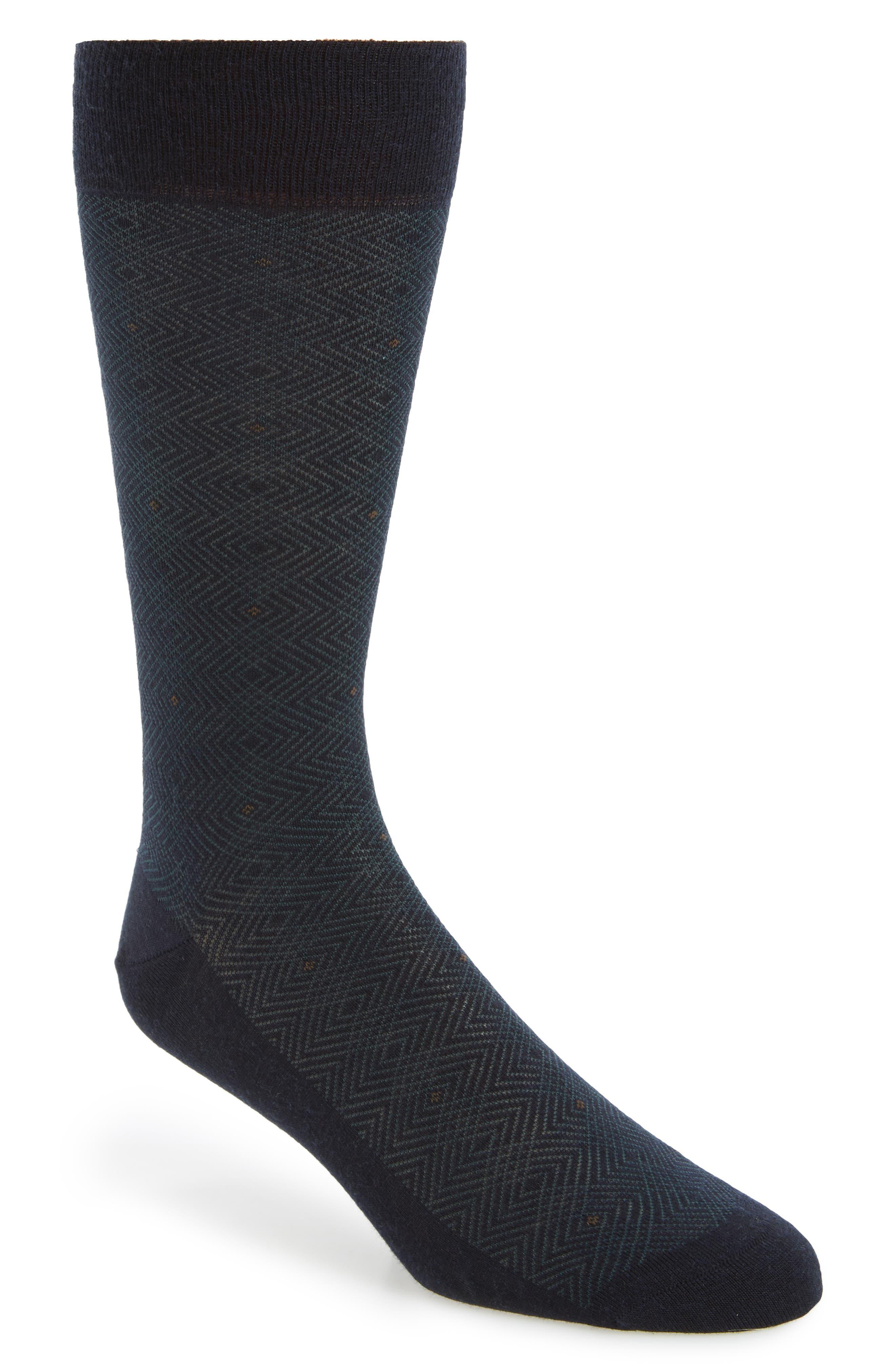 Merino Wool Blend Socks,                         Main,                         color, Navy