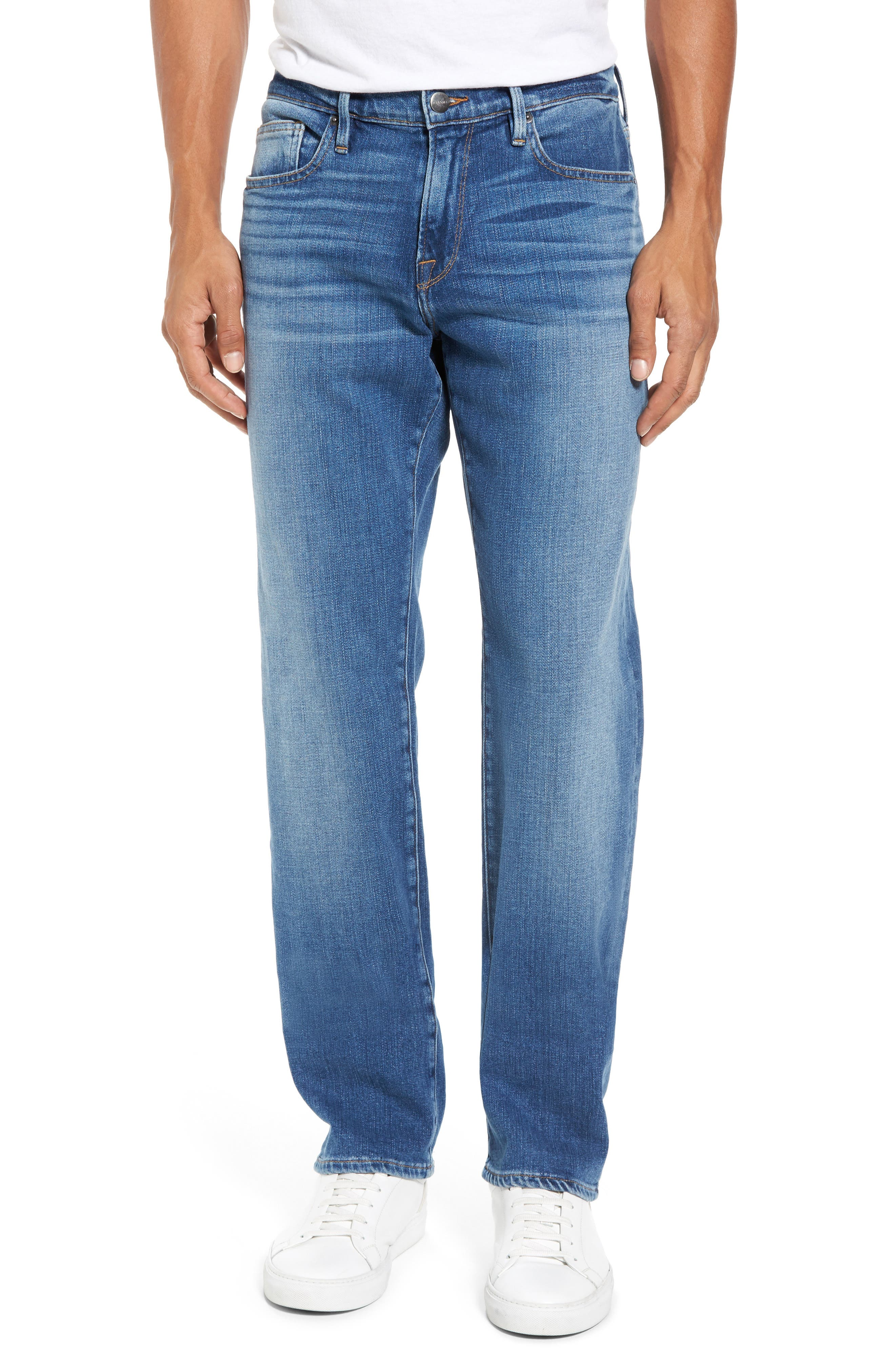 FRAME L'Homme Slim Straight Leg Jeans (Copper Hill)
