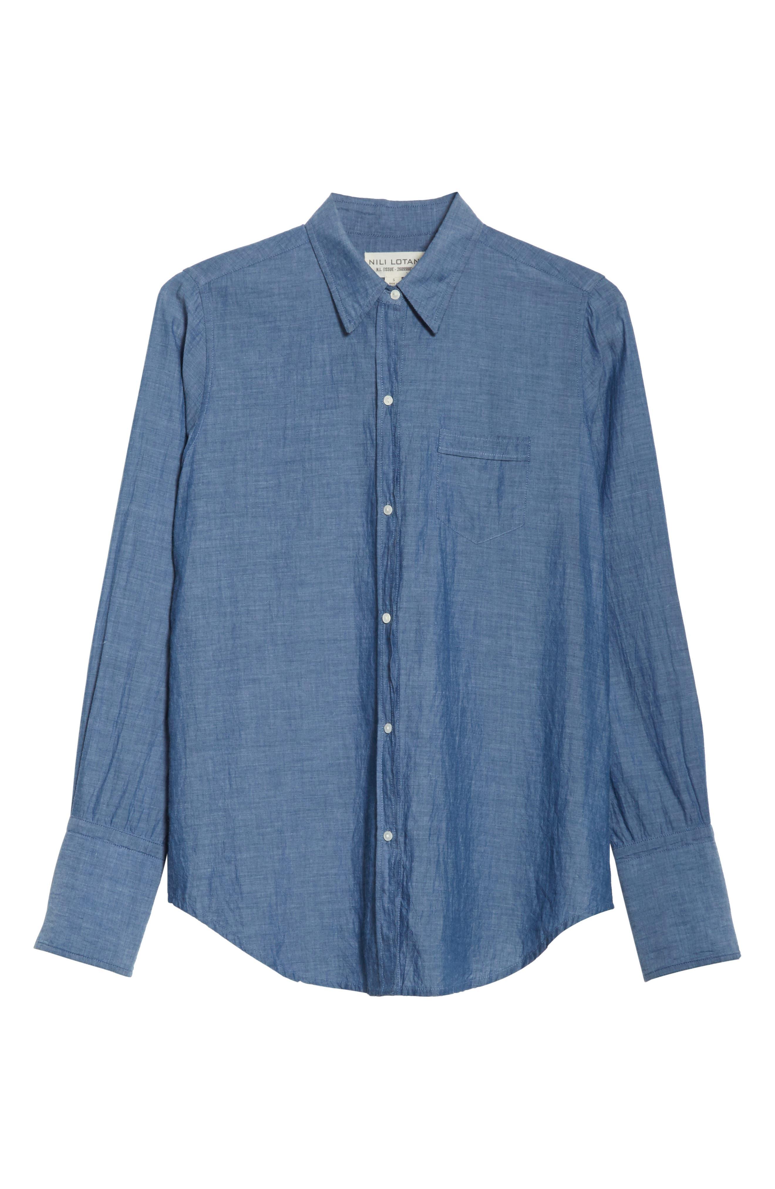 Chambray Shirt,                             Alternate thumbnail 6, color,                             Indigo Chambray