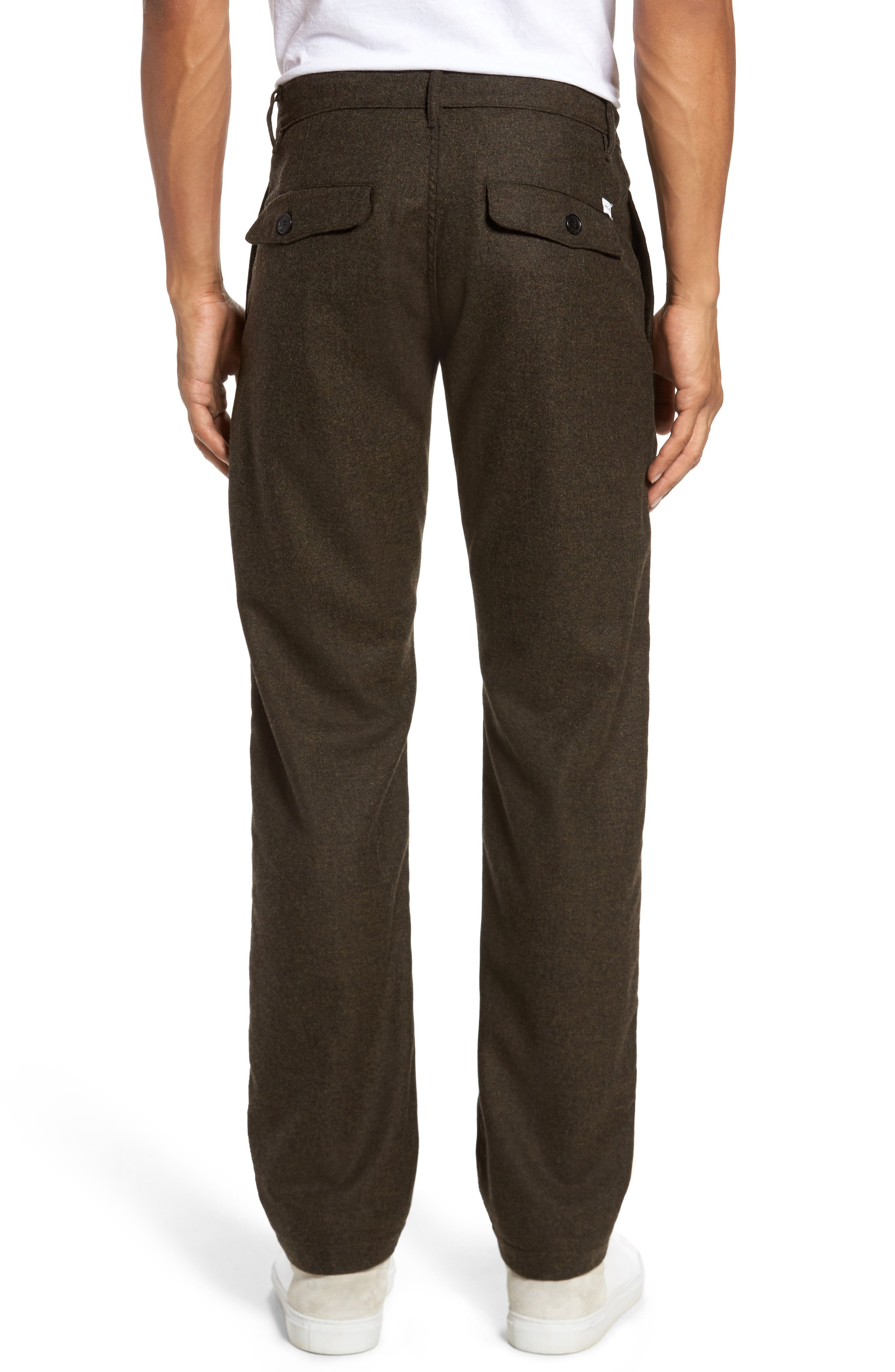 Wool & Cashmere Slim Straight Leg Chinos,                             Alternate thumbnail 2, color,                             Military