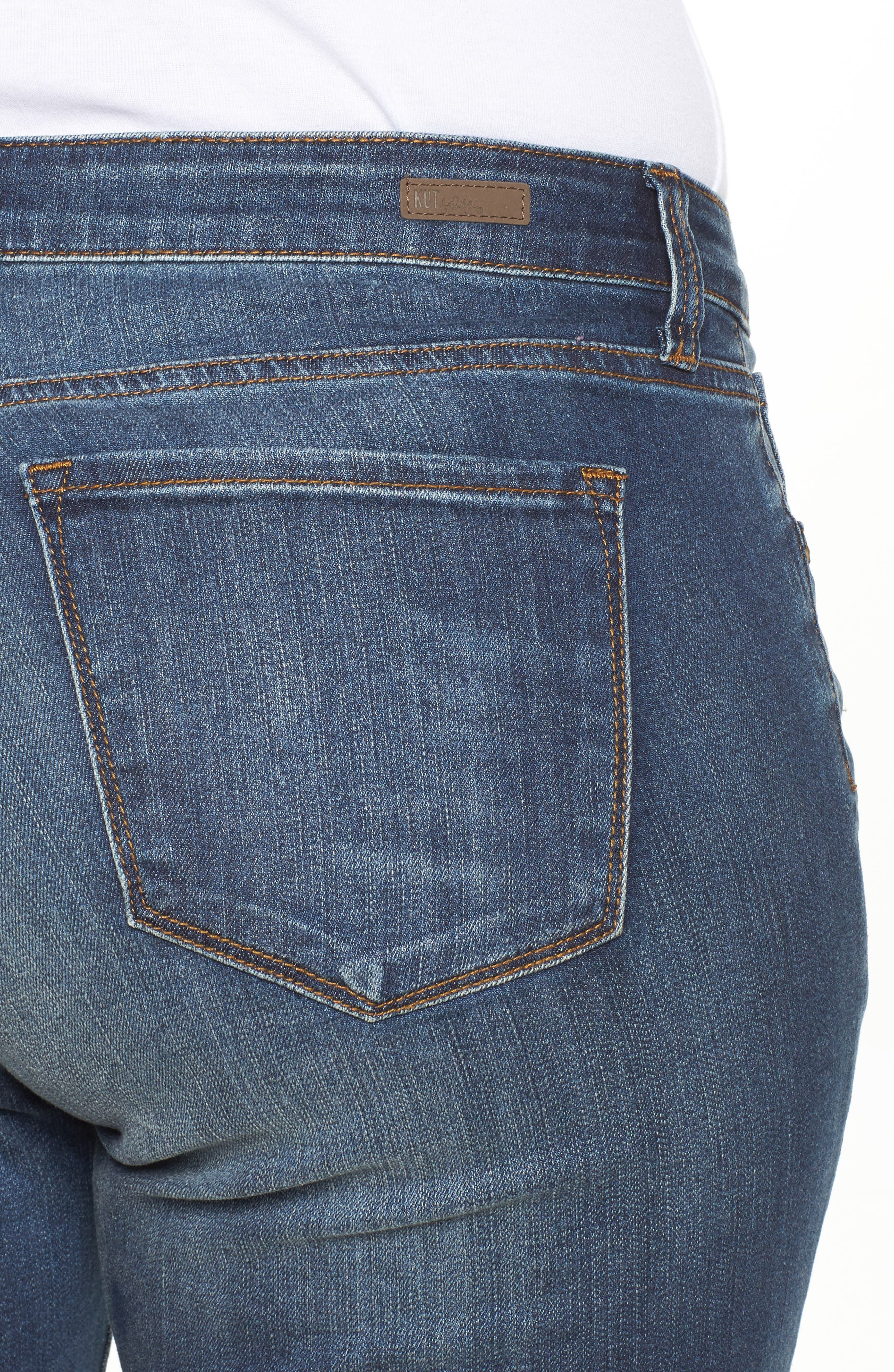 Alternate Image 4  - KUT from the Kloth Catherine Ripped Boyfriend Jeans (Allowing) (Plus Size)