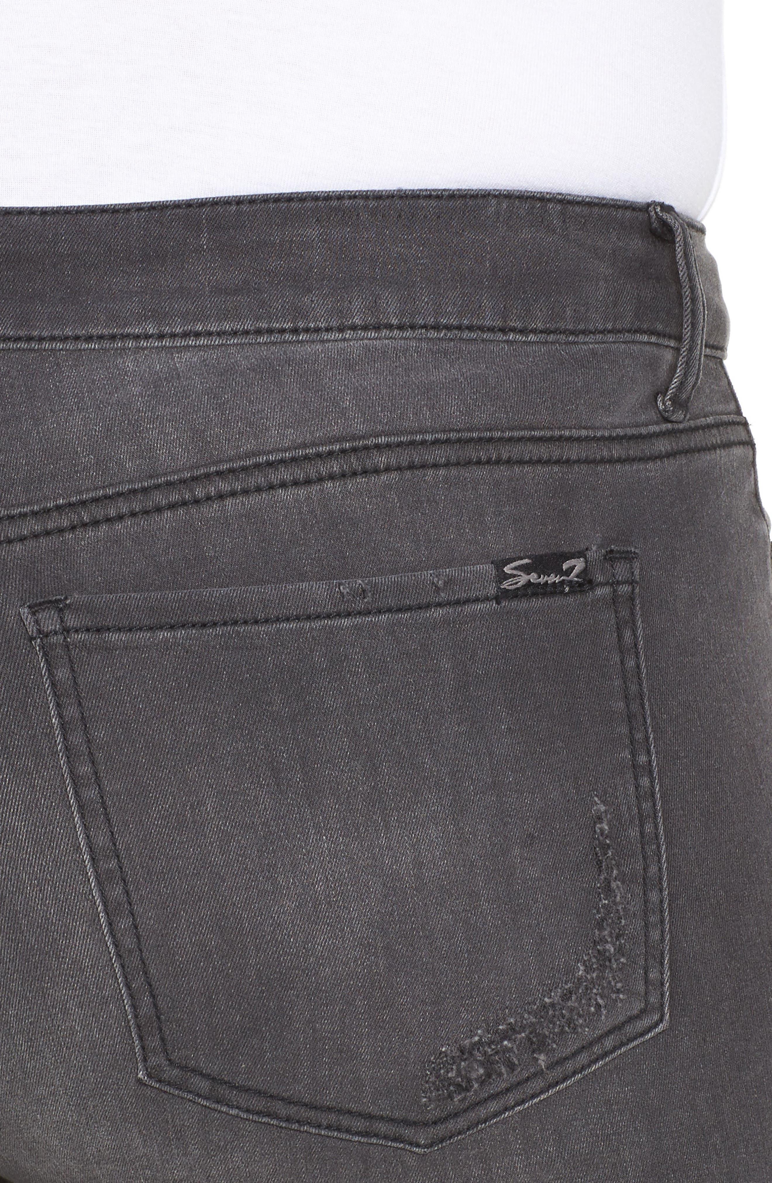 Embellished Ripped Skinny Jeans,                             Alternate thumbnail 5, color,                             Vivaldi