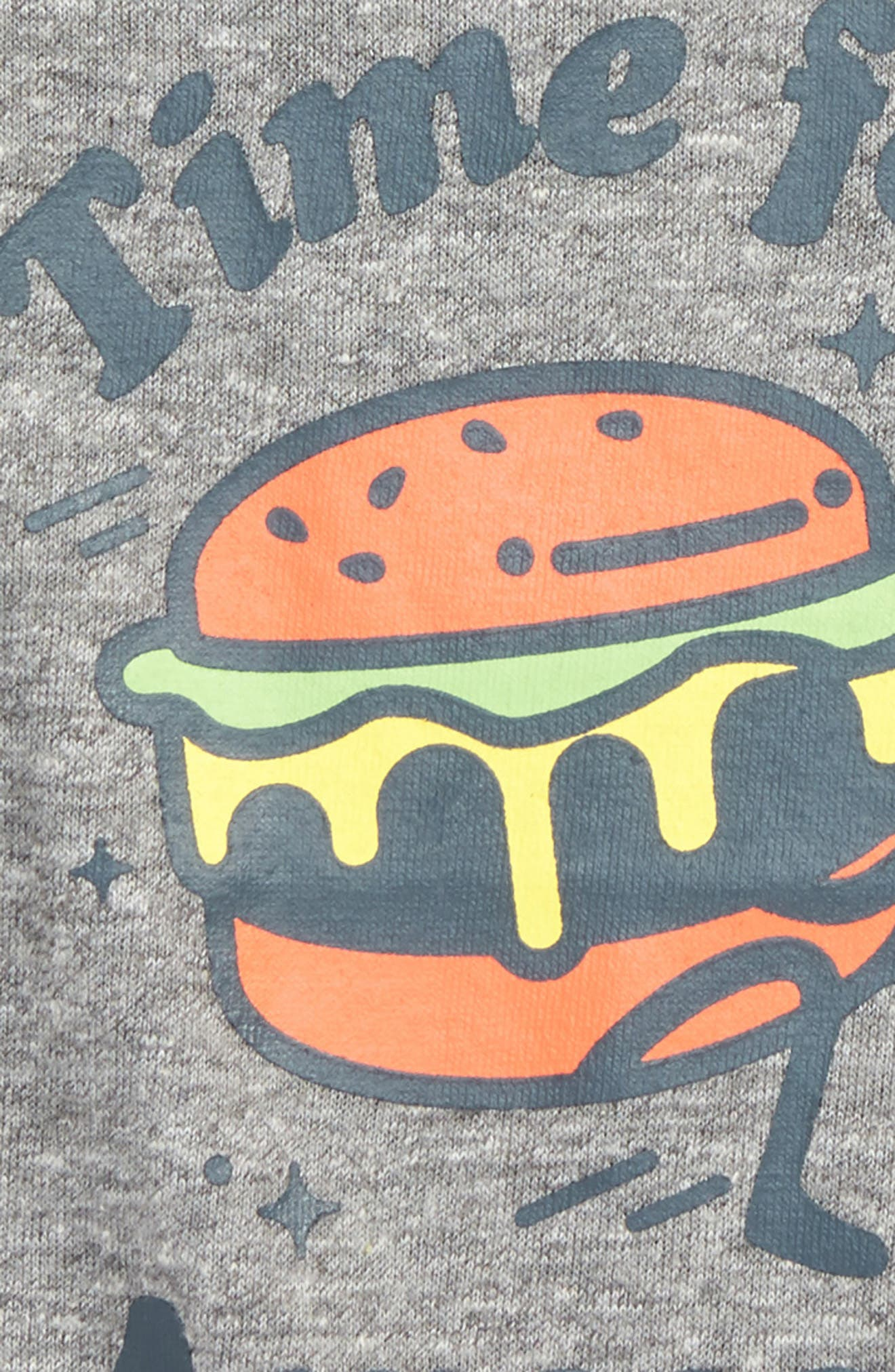 Awesome Burger Graphic T-Shirt,                             Alternate thumbnail 2, color,                             Heather Grey