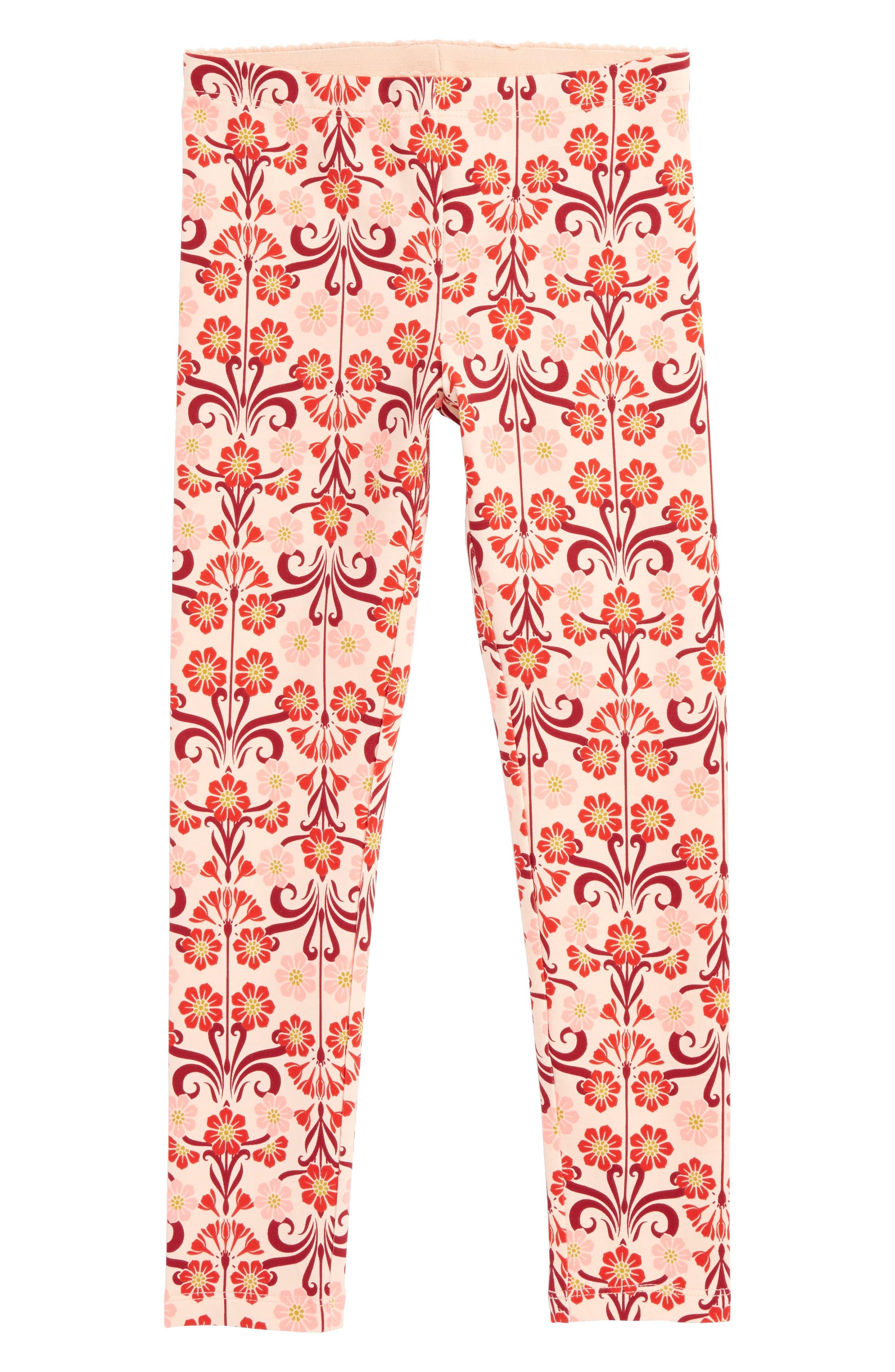 Tea Collection Dahlia Floral Print Leggings (Toddler Girls, Little Girls & Big Girls)