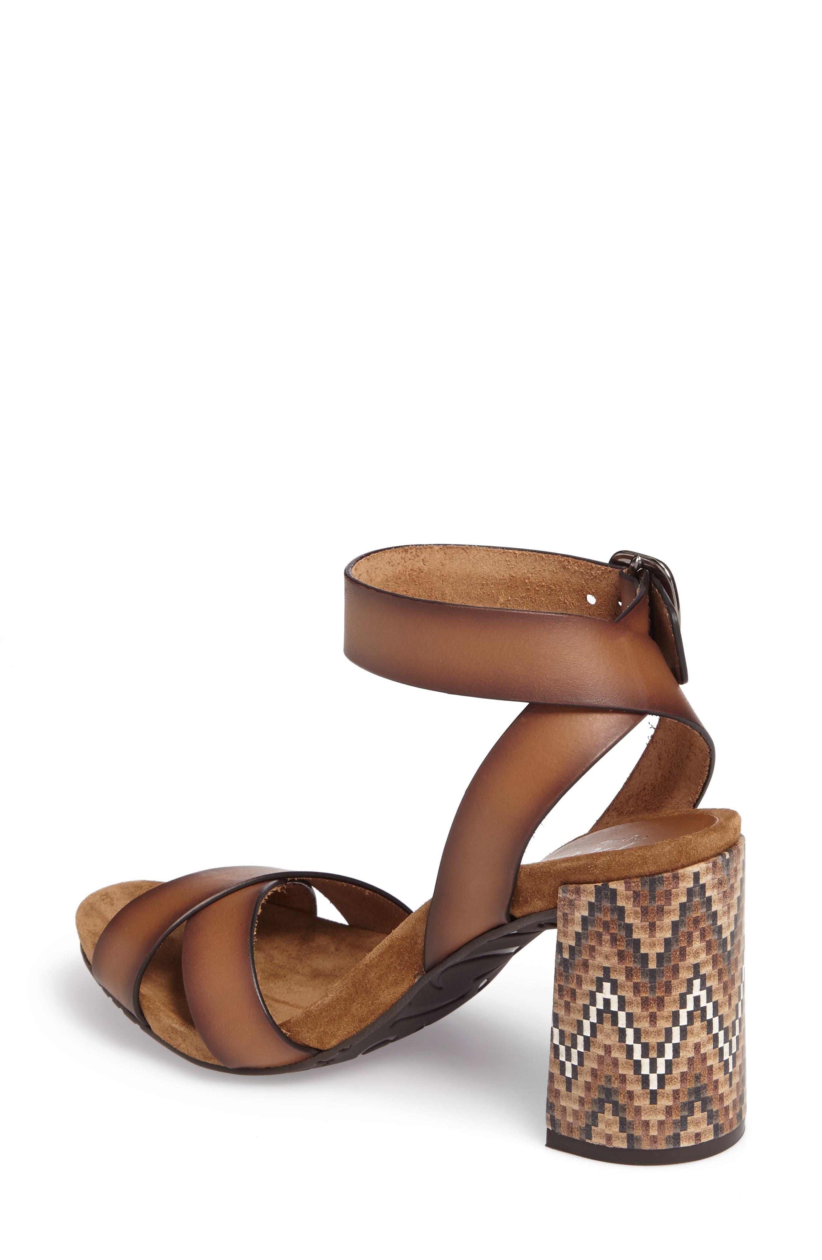 Yemba Embellished Heel Sandal,                             Alternate thumbnail 2, color,                             Cigar Vacchetta