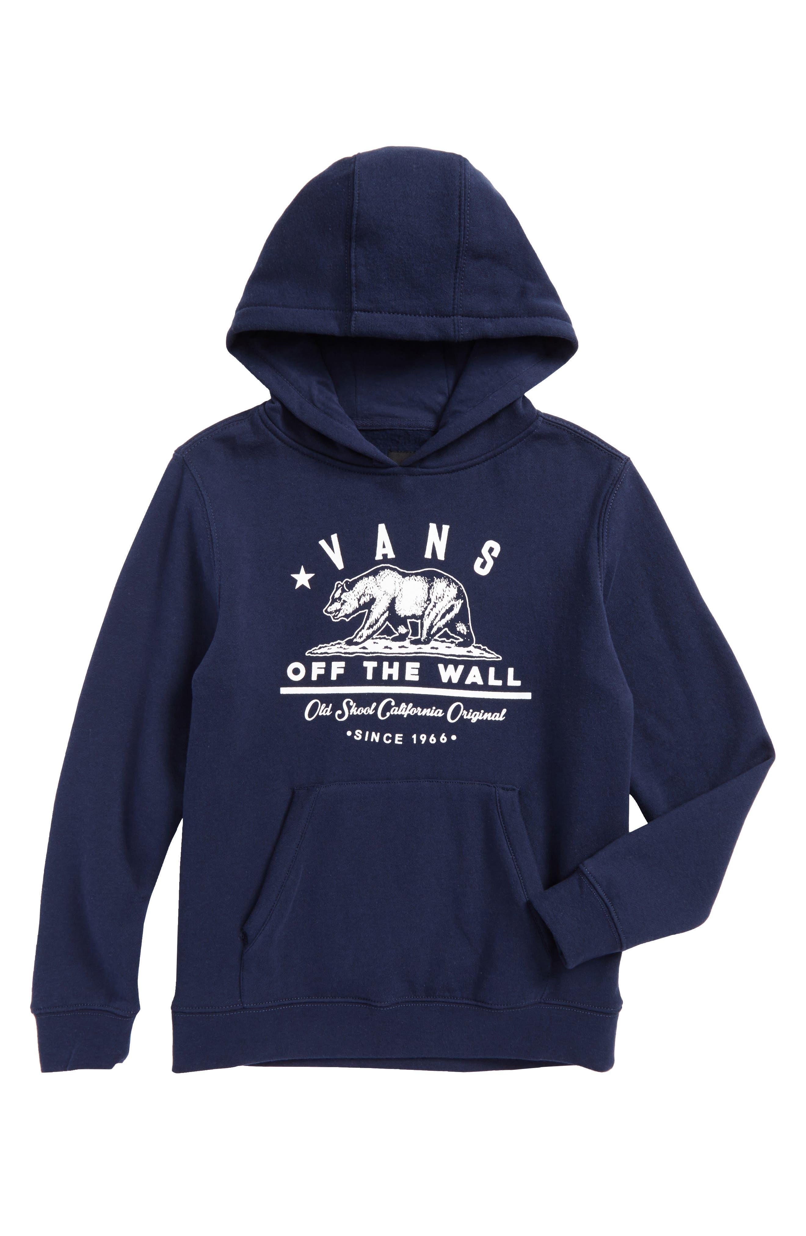 Alternate Image 1 Selected - Vans Old Skool Cali Bear Graphic Hoodie (Big Boys)