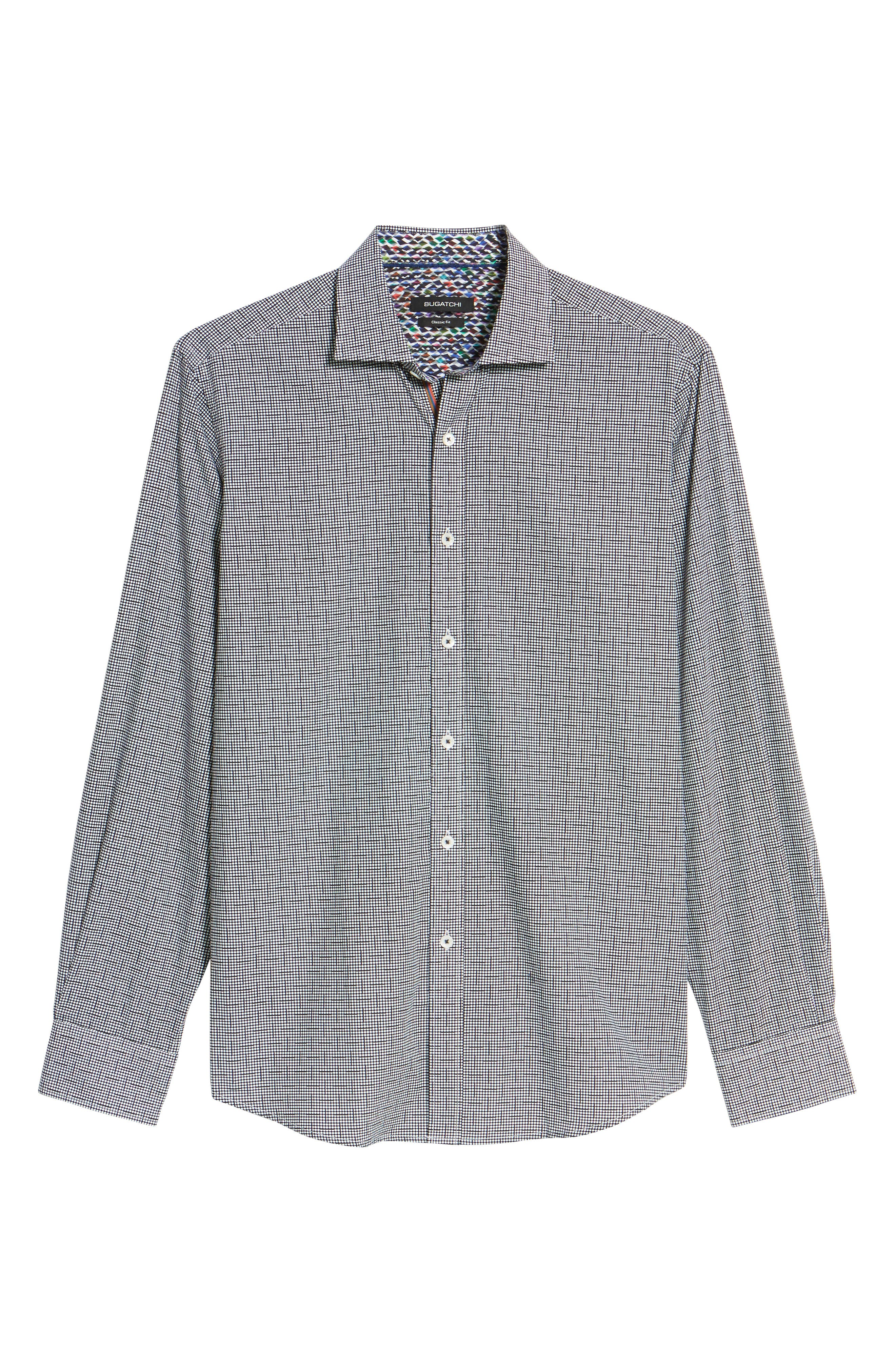 Alternate Image 6  - Bugatchi Classic Fit Dot Print Sport Shirt