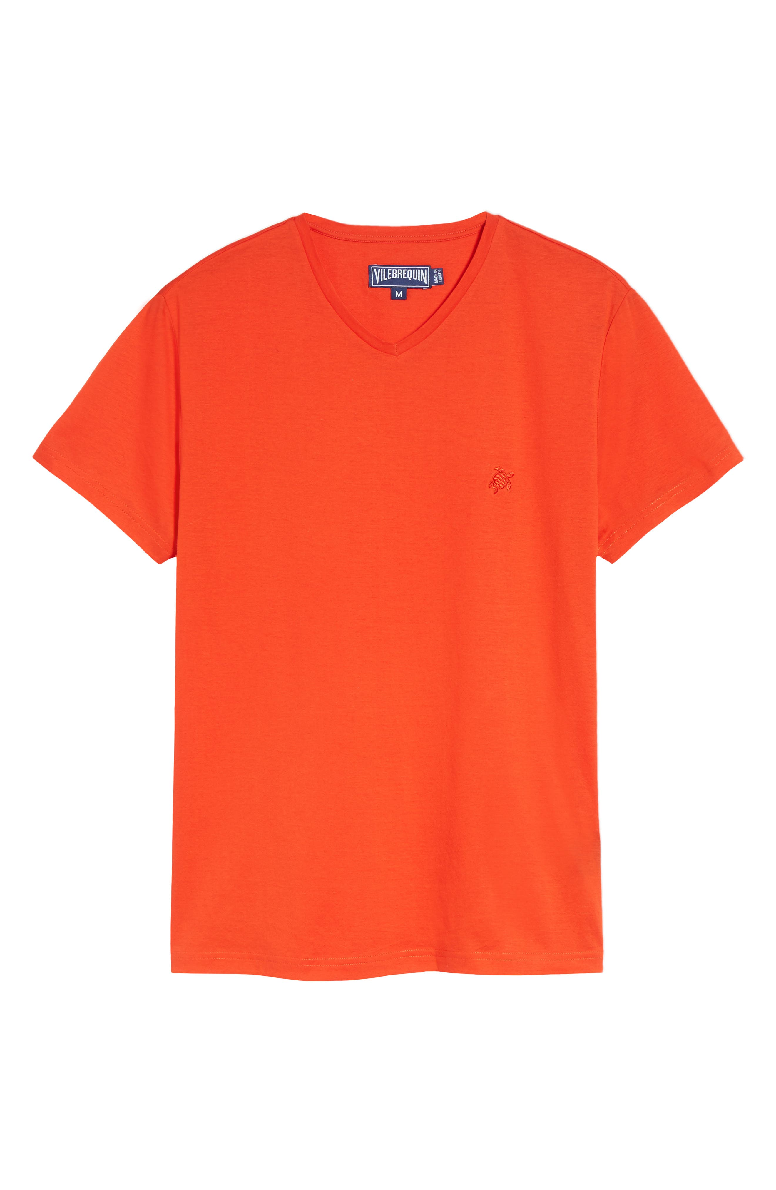 Classic Fit V-Neck T-Shirt,                             Alternate thumbnail 6, color,                             Poppy Red