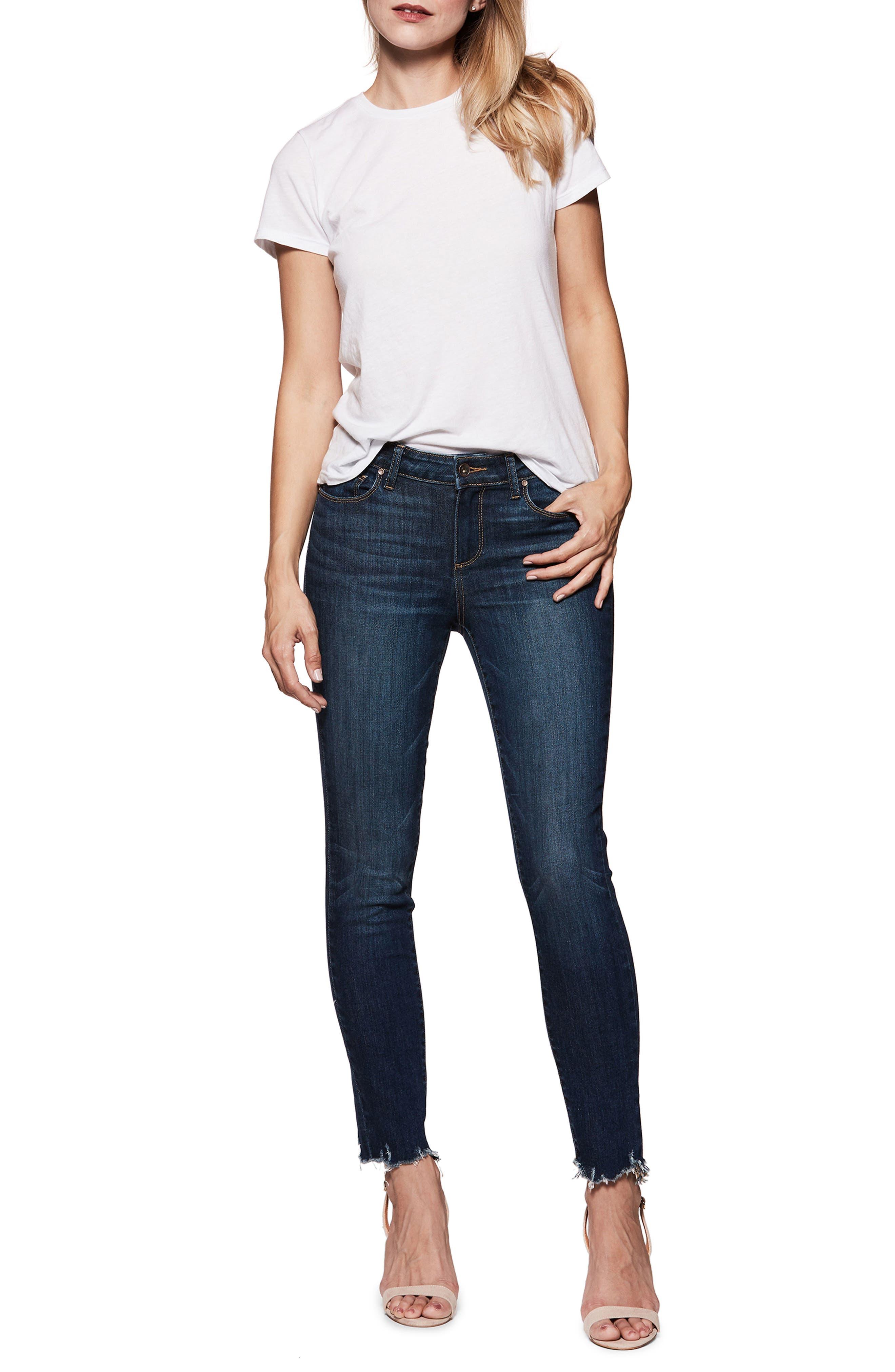 Verdugo Transcend Vintage Ankle Skinny Jeans,                             Alternate thumbnail 3, color,                             Barton