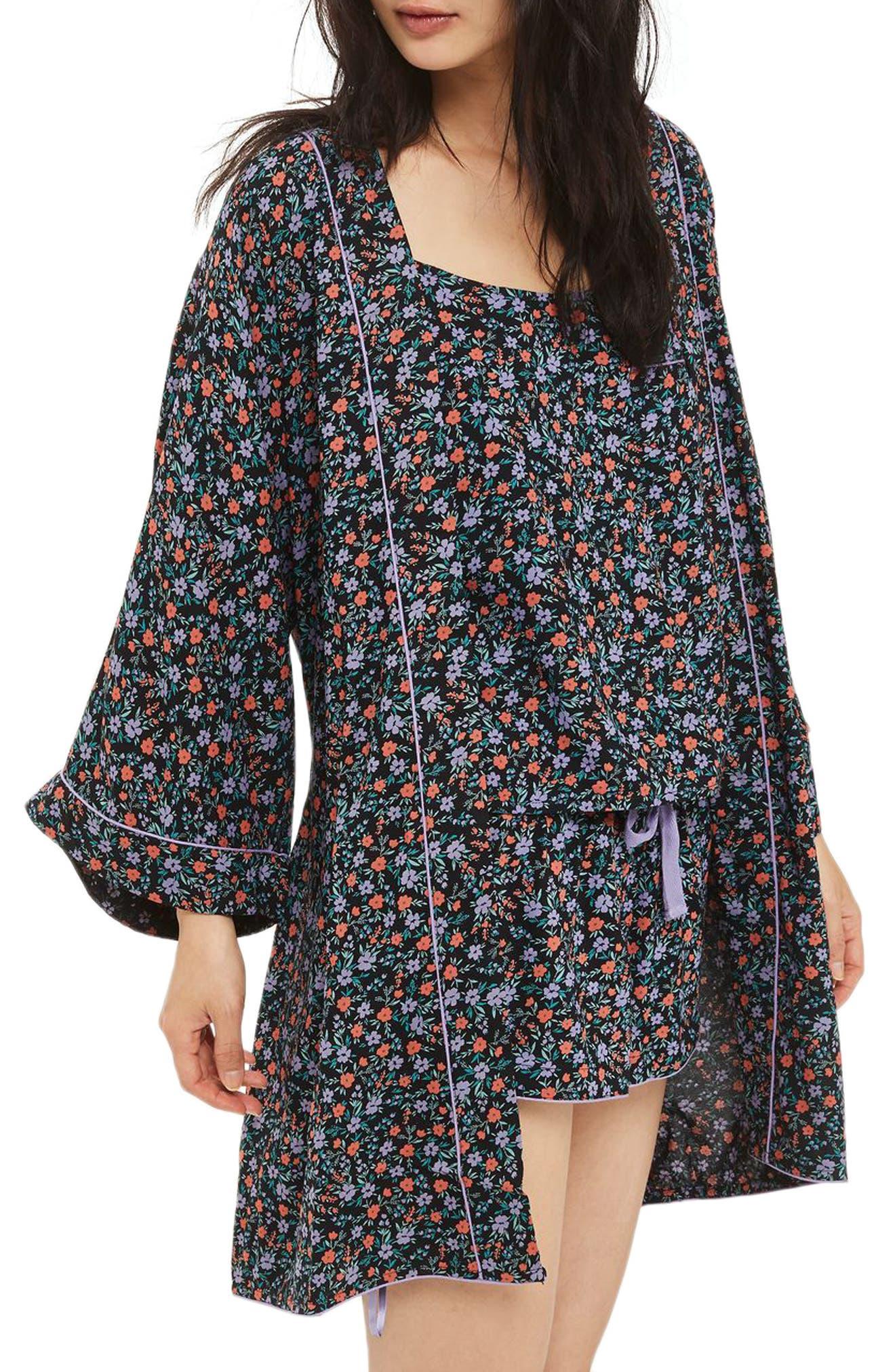 Topshop Ditsy Floral Print Robe