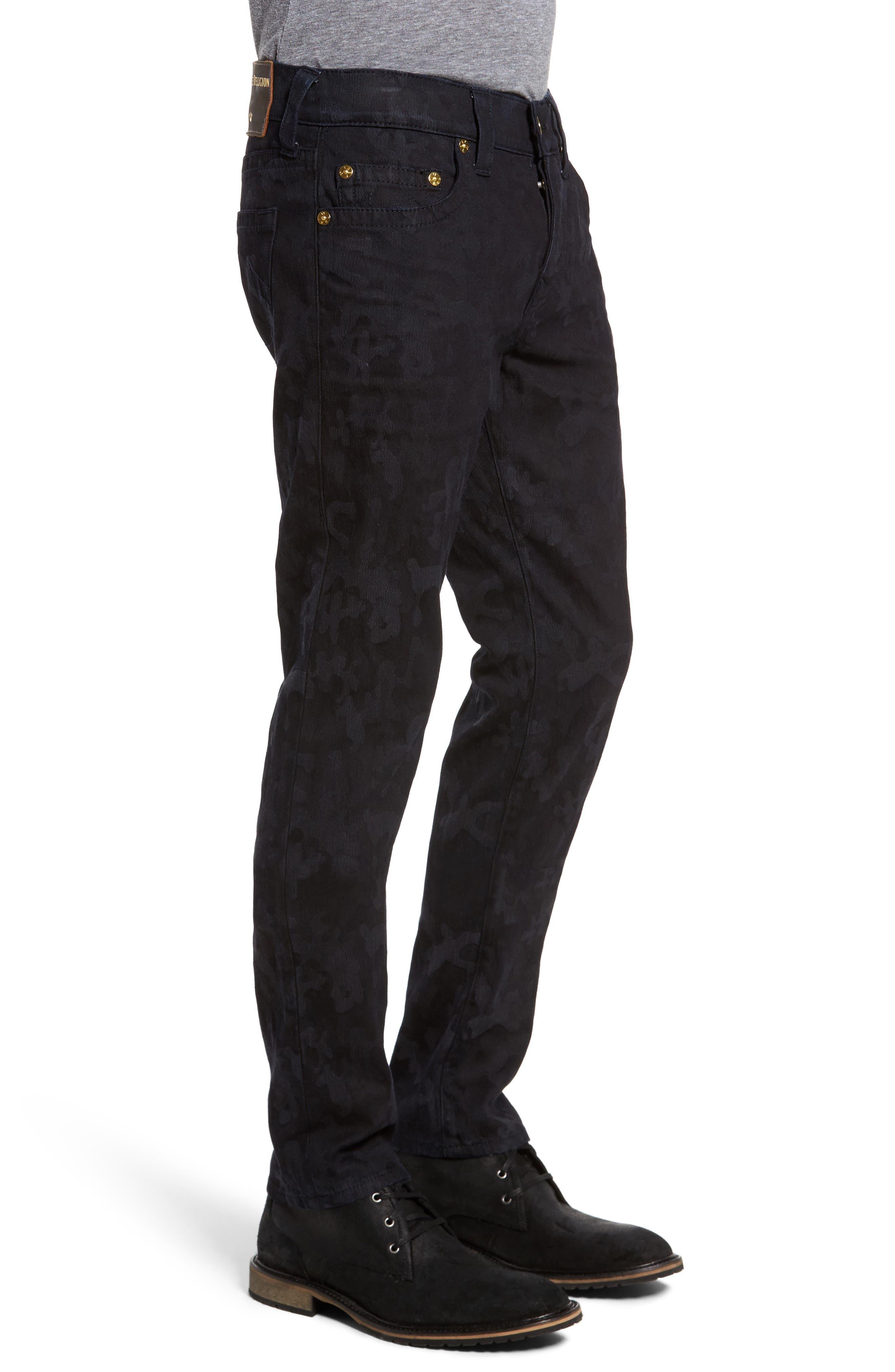 Alternate Image 3  - True Religion Brand Jeans Rocco Skinny Fit Jeans (Midnight Camo)