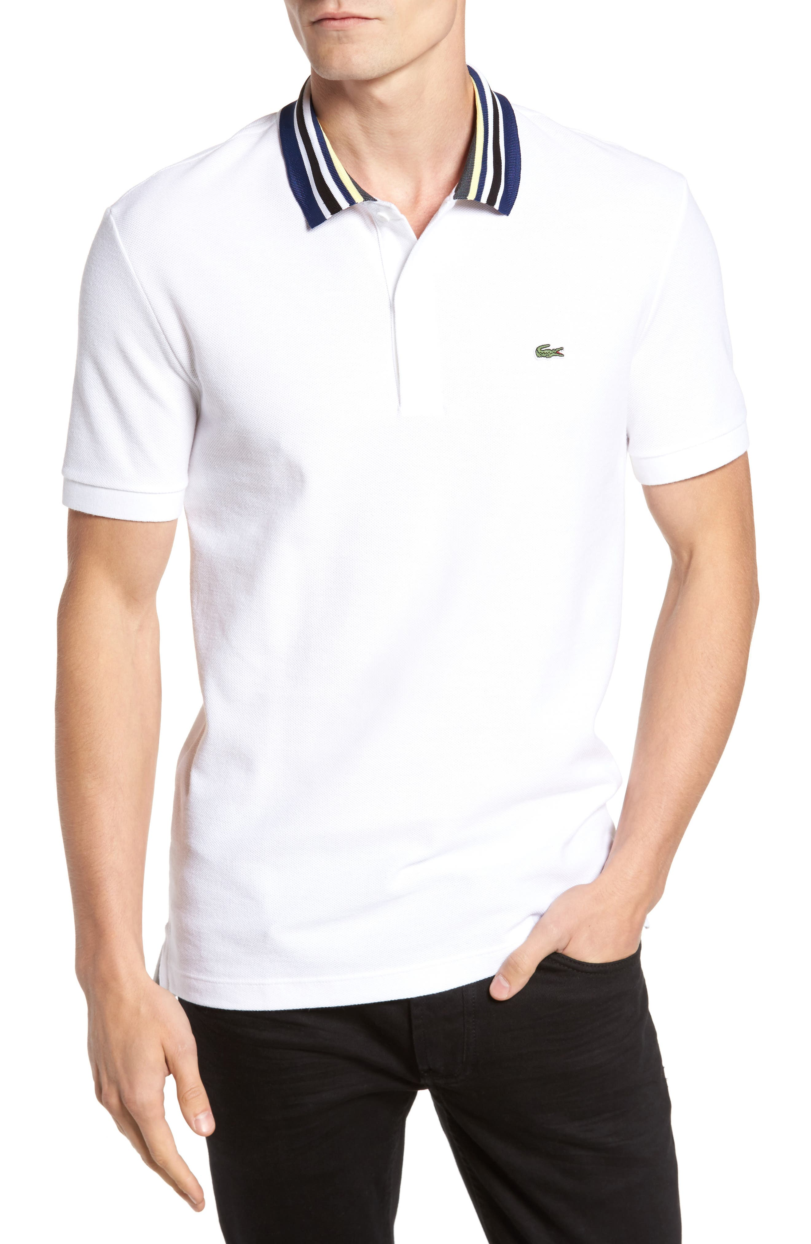 Lacoste Solid Tipped Polo
