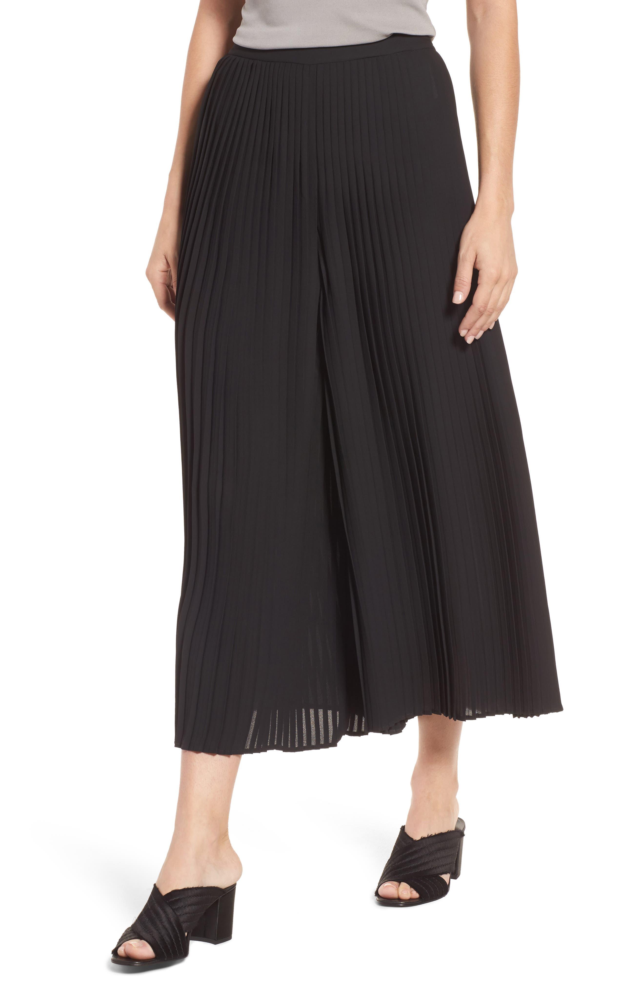 Alternate Image 1 Selected - Eileen Fisher Wide Leg Ankle Pants (Regular & Petite)