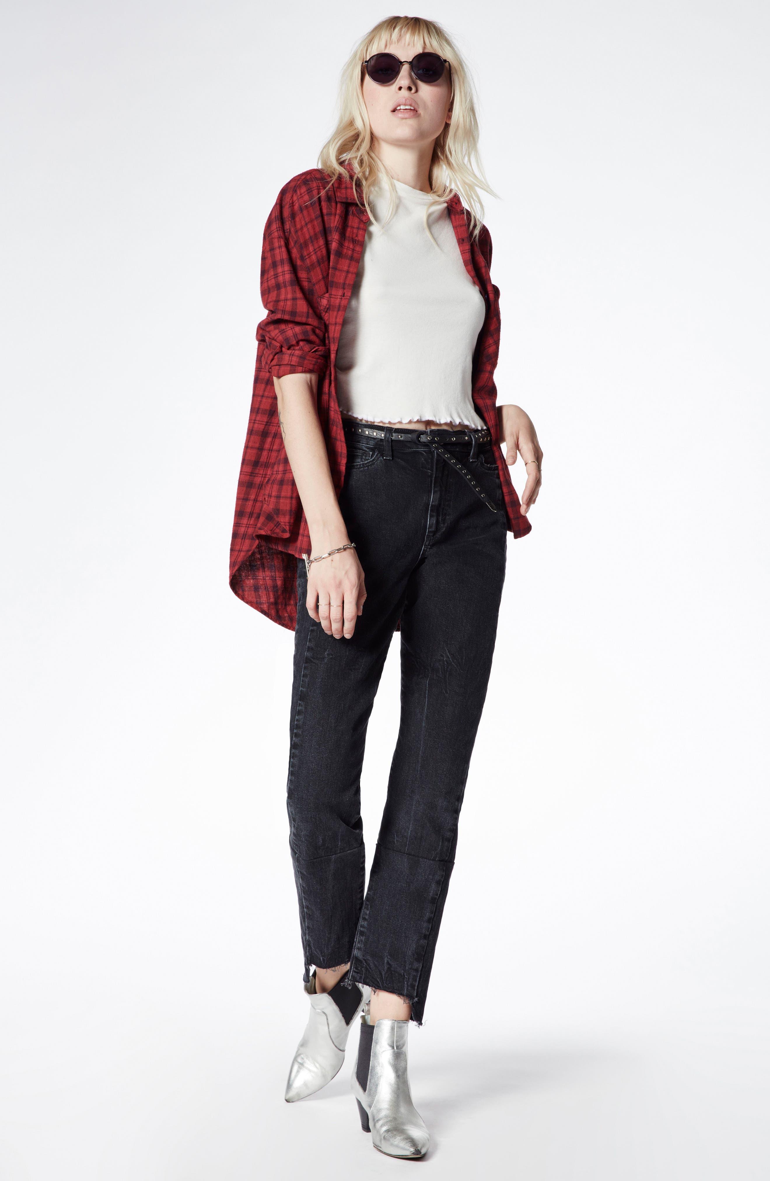 Alternate Image 2  - Taylor Hill x Joe's Kass Raw Step Hem Ankle Skinny Jeans (Domino)