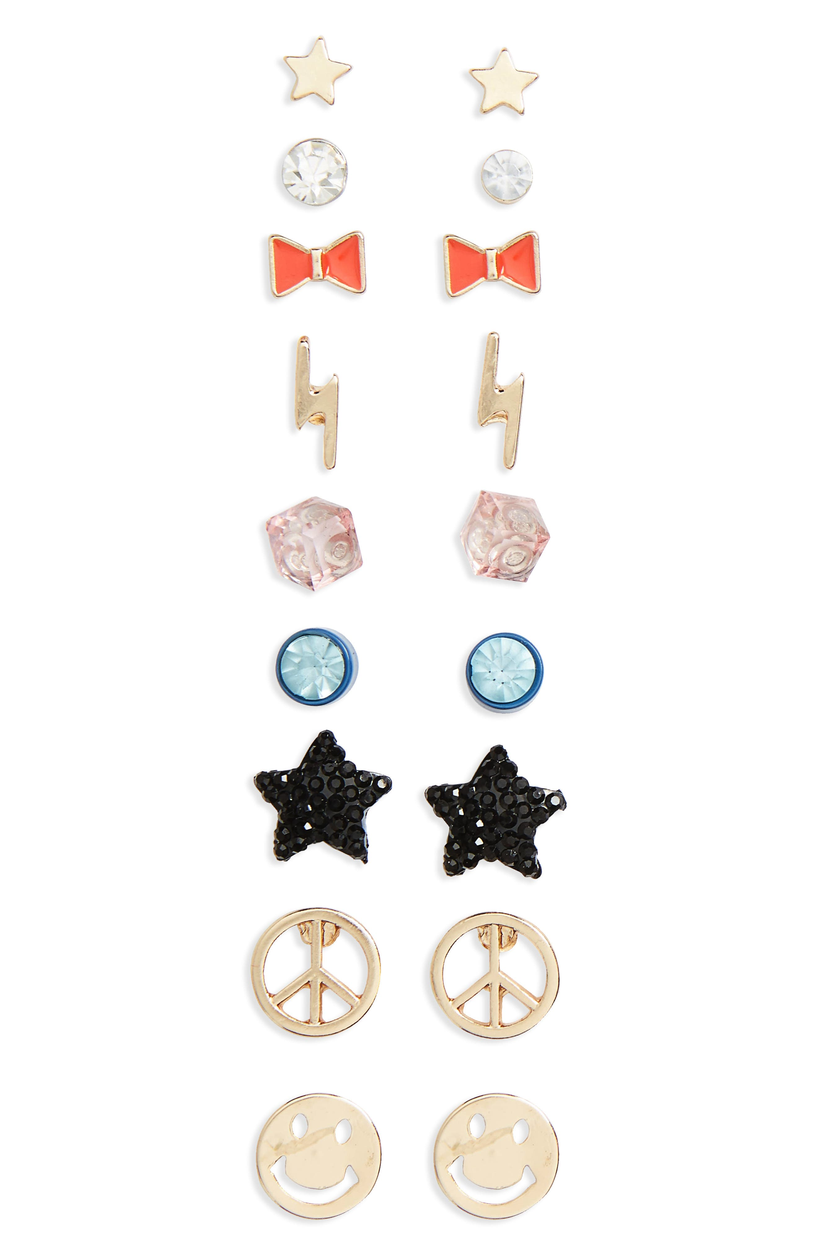 Capelli New York 9-Pack Earring Set (Girls)