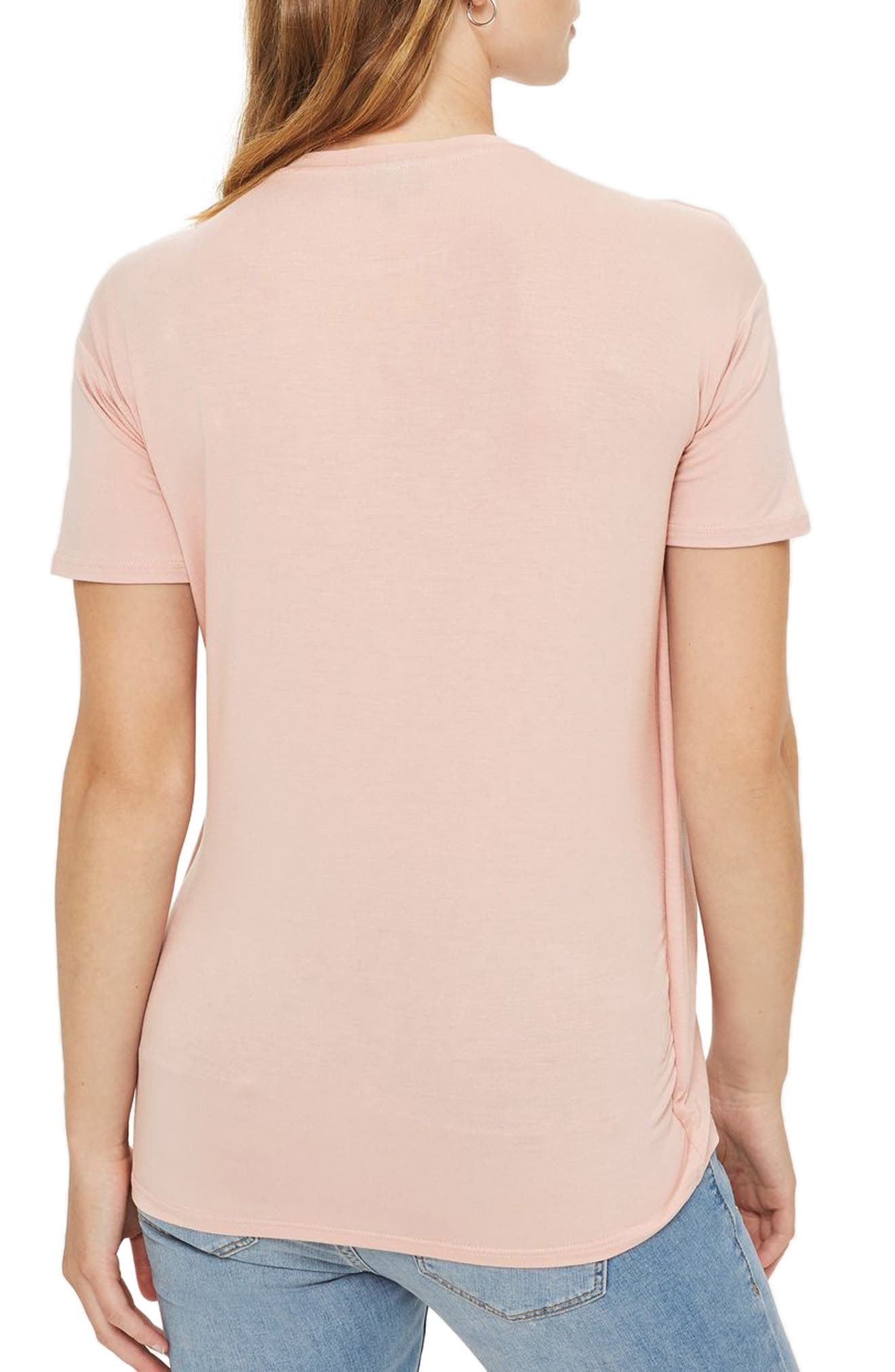 Alternate Image 2  - Topshop Short Sleeve Drape Maternity/Nursing Tee