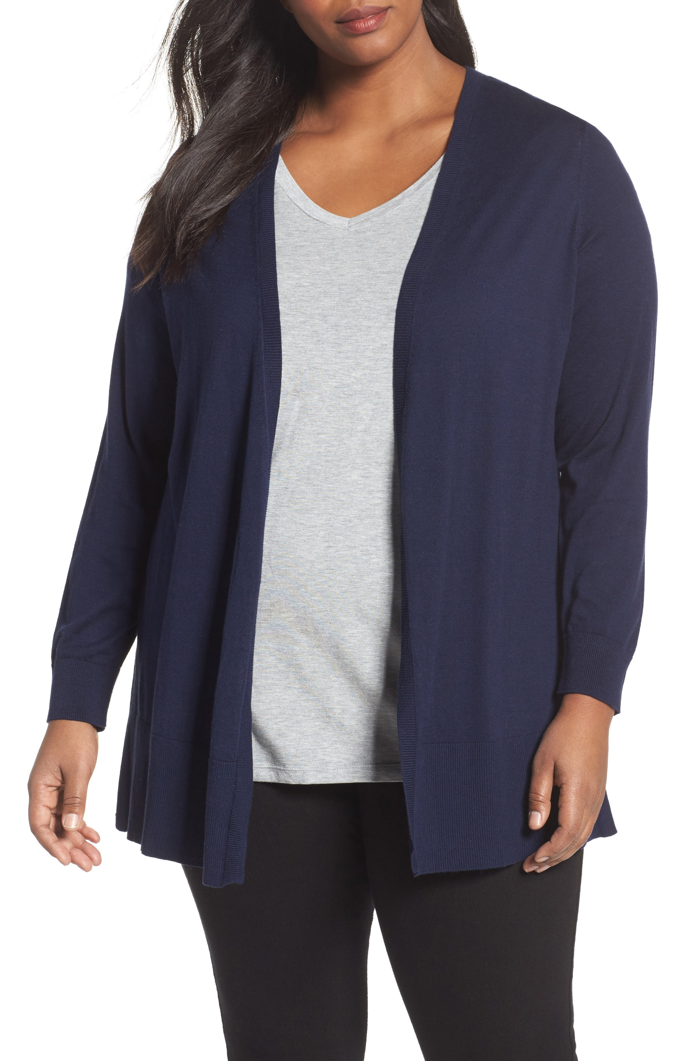 Sejour V-Neck Cardigan (Plus Size)