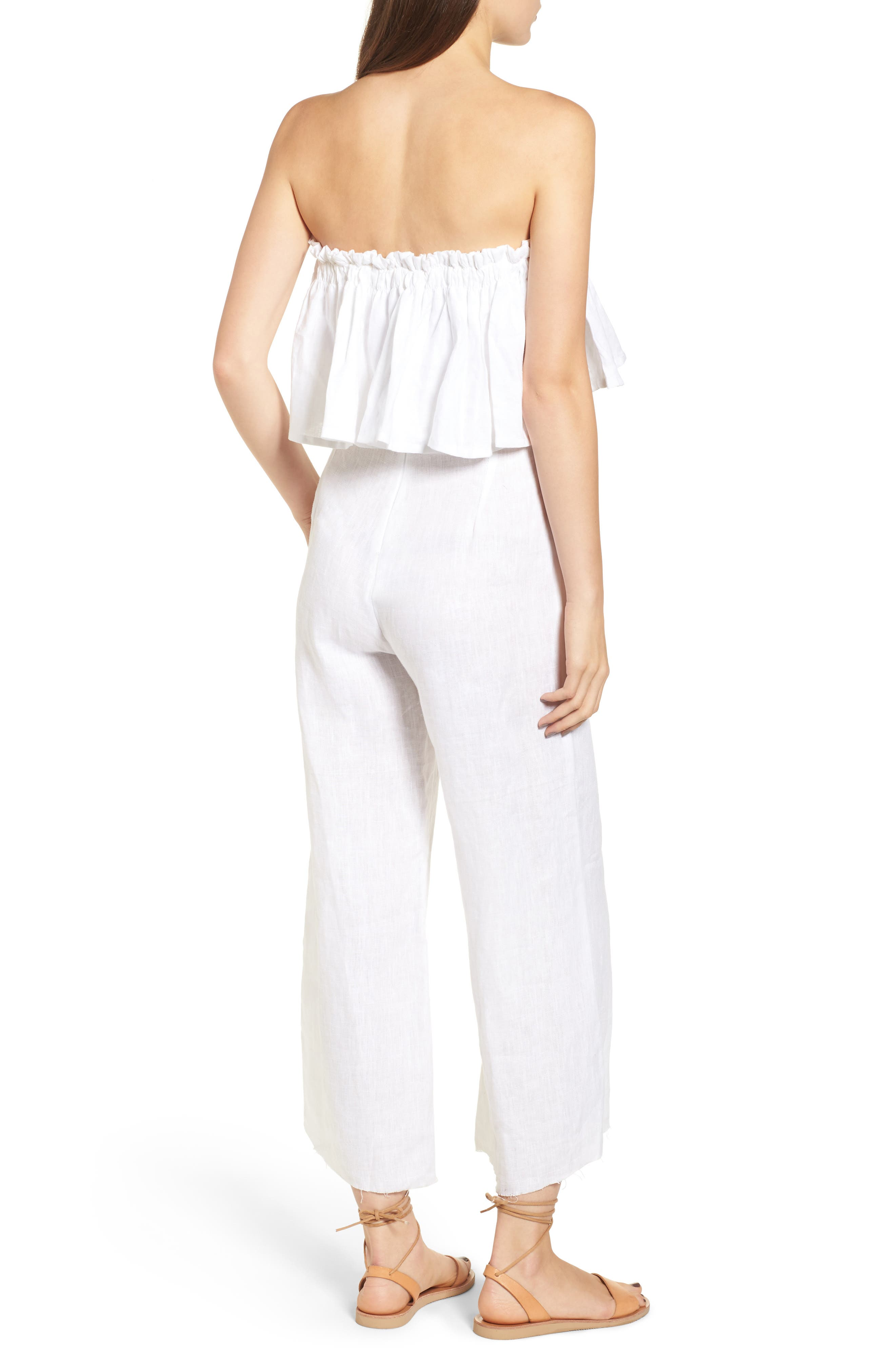 Alternate Image 7  - FAITHFULL THE BRAND Pietro Cinched Linen Crop Top