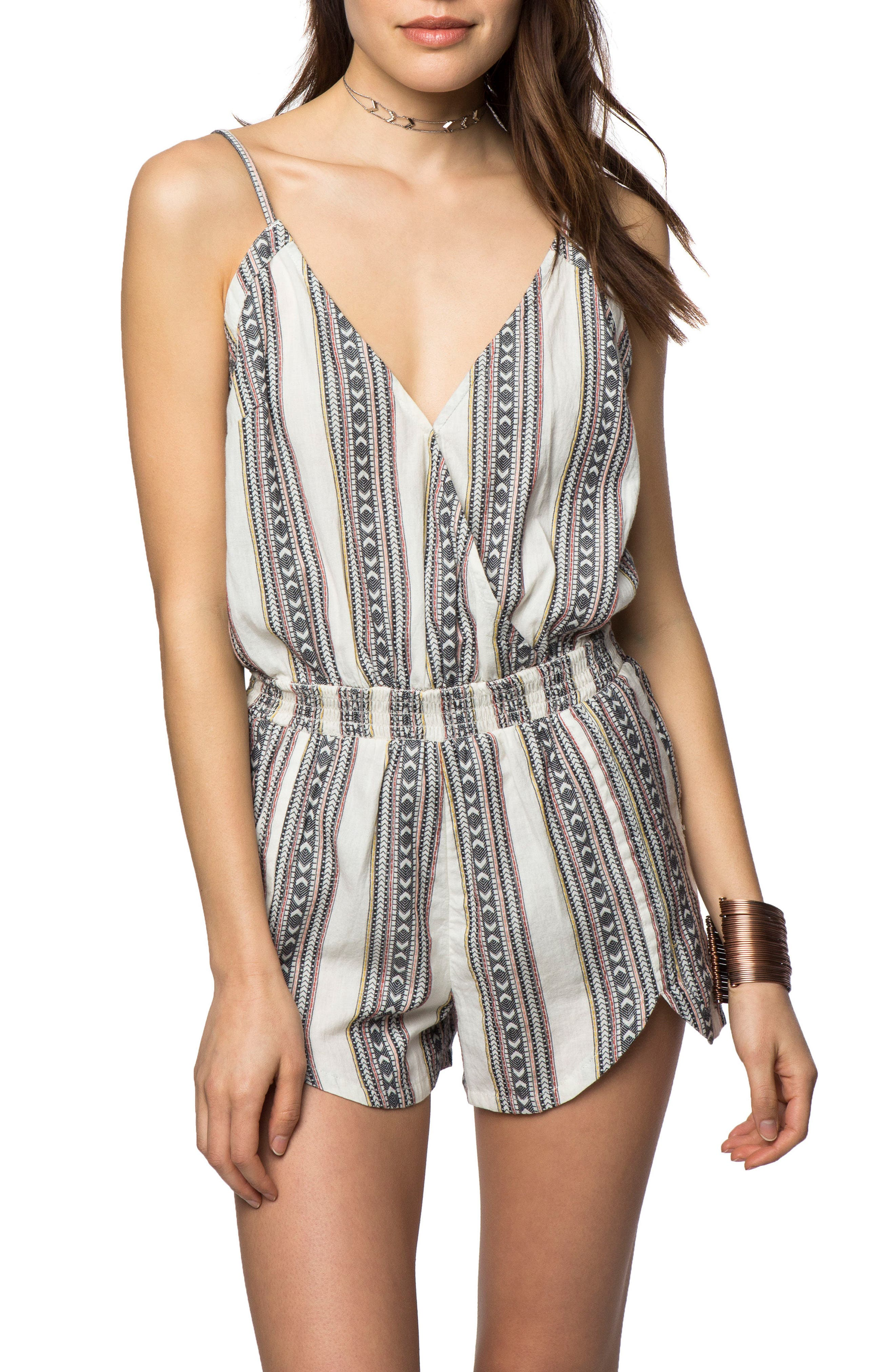 Orianna Woven Romper,                             Main thumbnail 1, color,                             Naked - Wwh