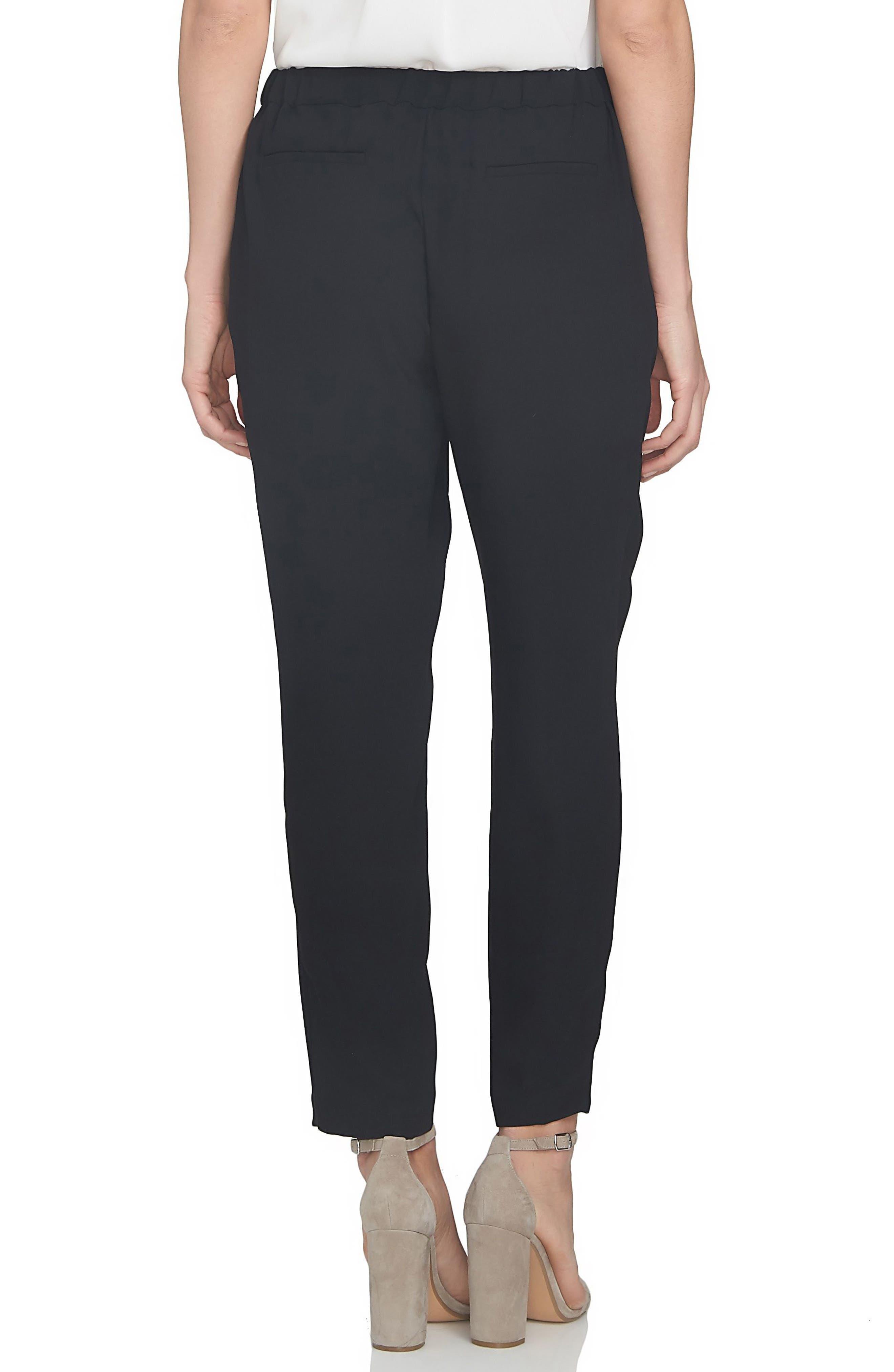 Soft Crepe Jogger Pants,                             Alternate thumbnail 2, color,                             Black