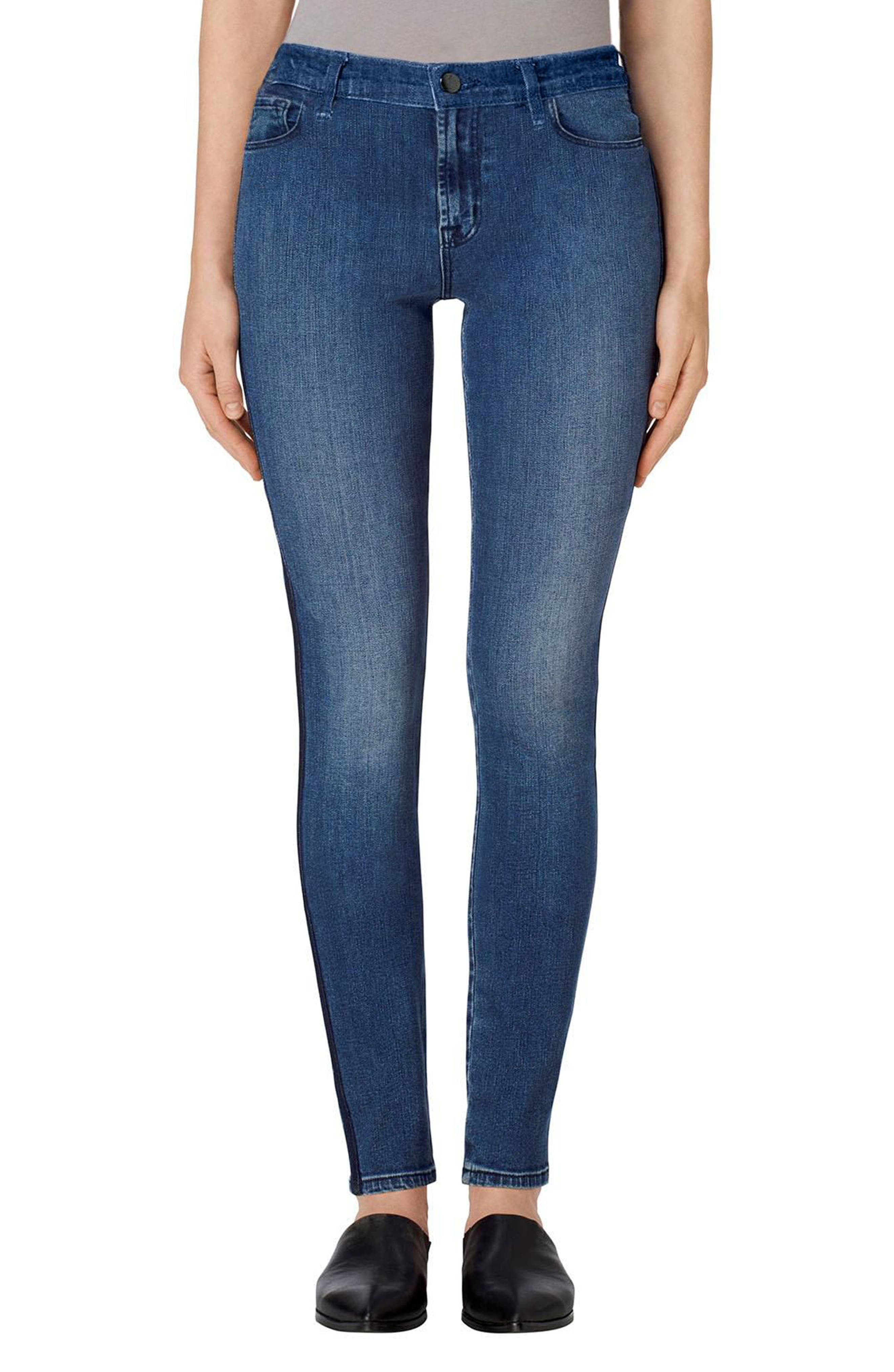 Main Image - J Brand Maria High Rise Skinny Jeans (Point Blank)
