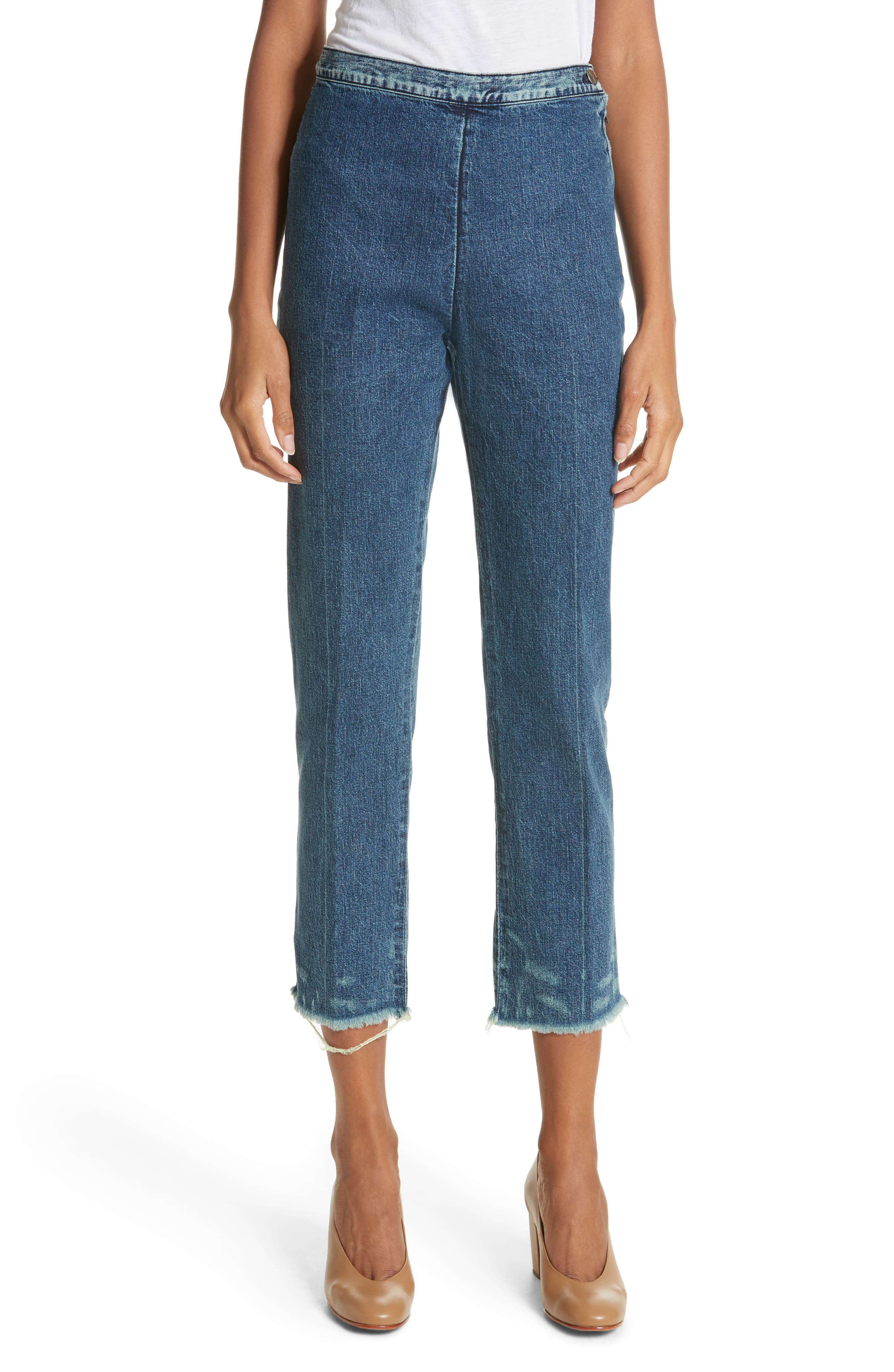 Alternate Image 1 Selected - Rachel Comey Fletcher Slim Straight Cropped Jeans (Classic Indigo)
