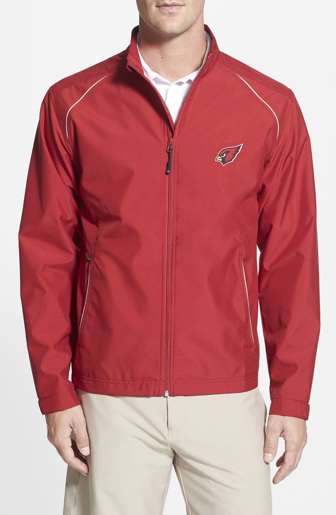 Cutter & Buck Arizona Cardinals - Beacon WeatherTec Wind & Water Resistant Jacket