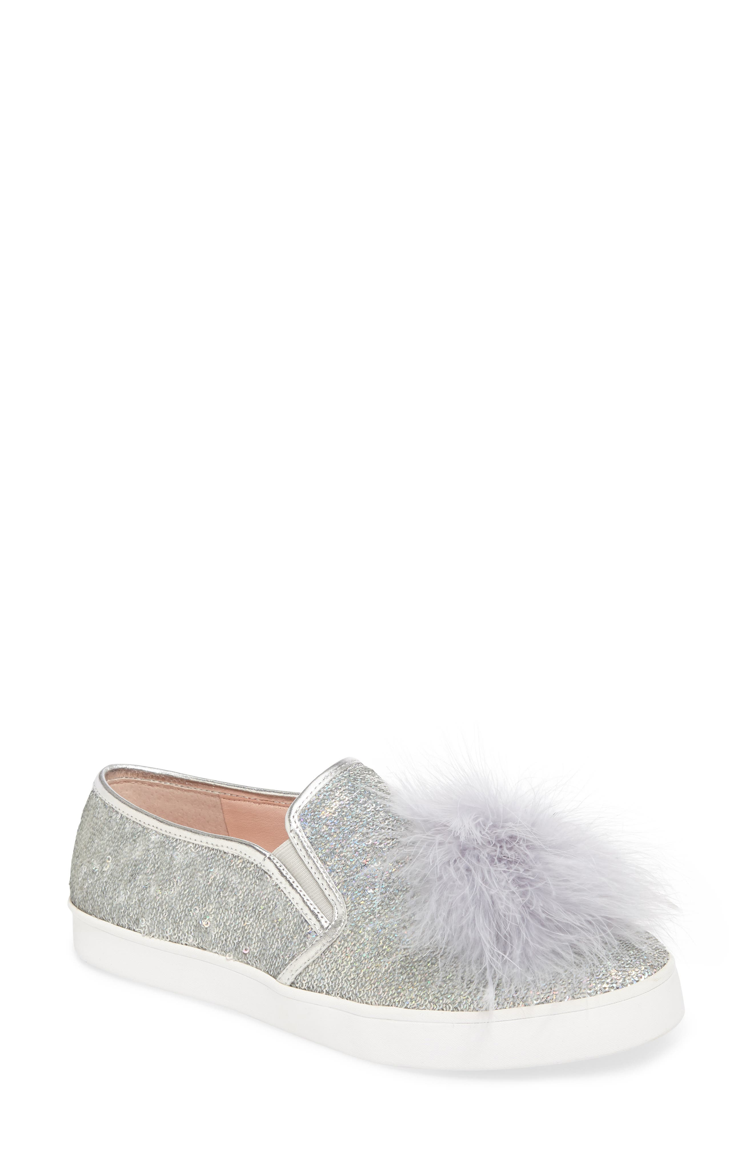 sequin slip-on sneaker,                         Main,                         color, Silver Sequins