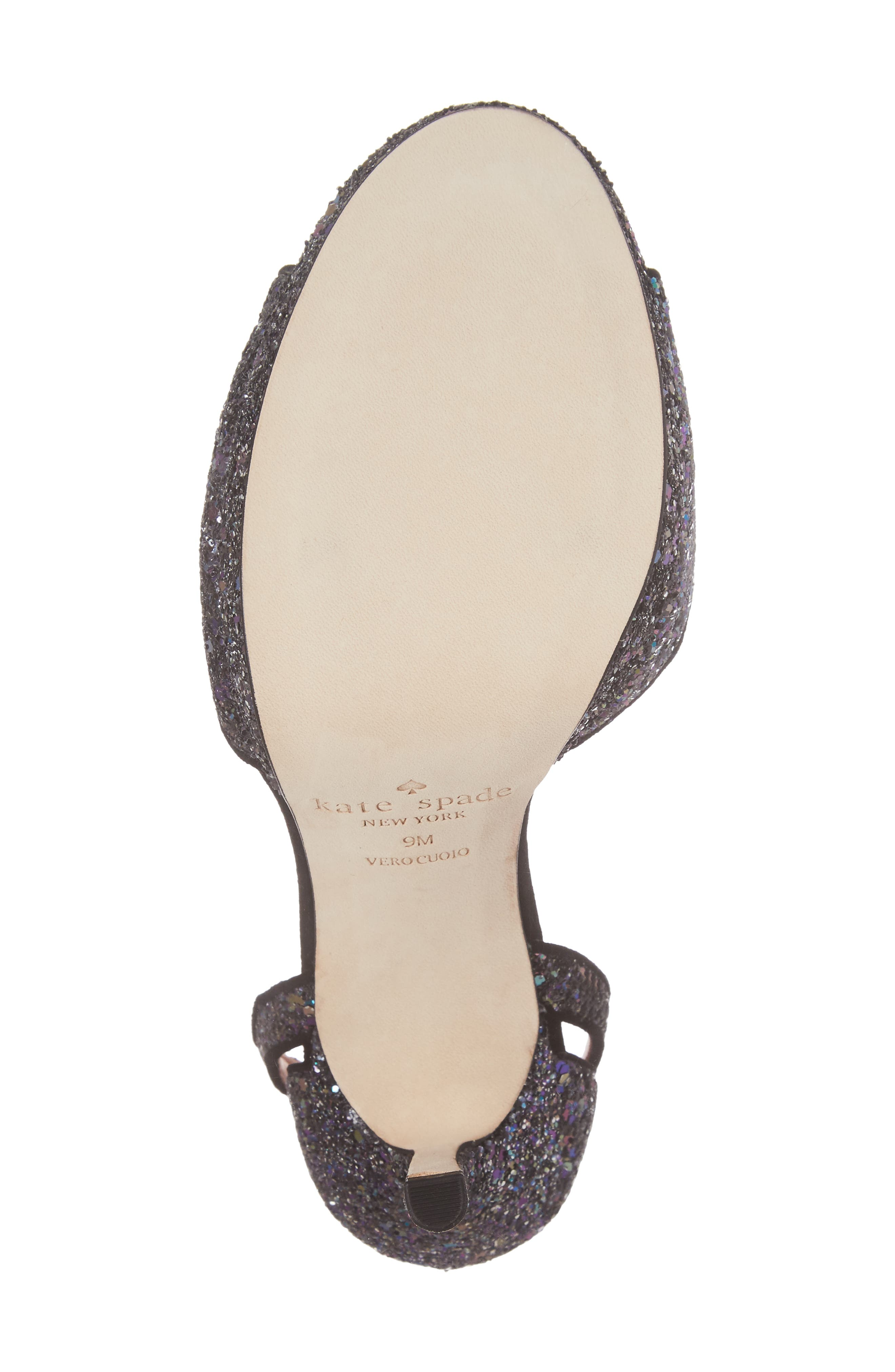 kate spade franklin sandal,                             Alternate thumbnail 6, color,                             Midnight Glitter