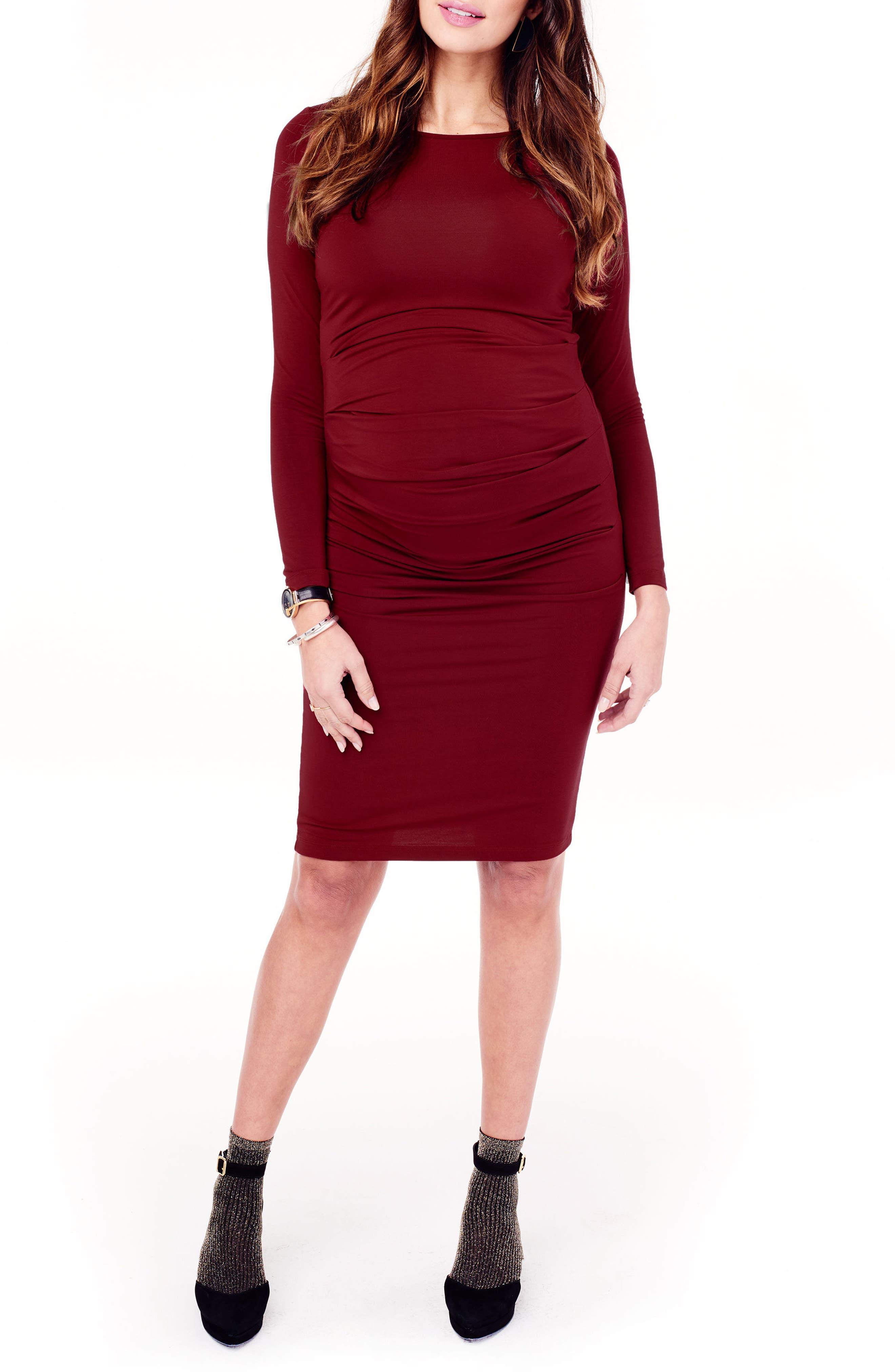 Alternate Image 1 Selected - Ingrid & Isabel® Shirred Maternity Dress