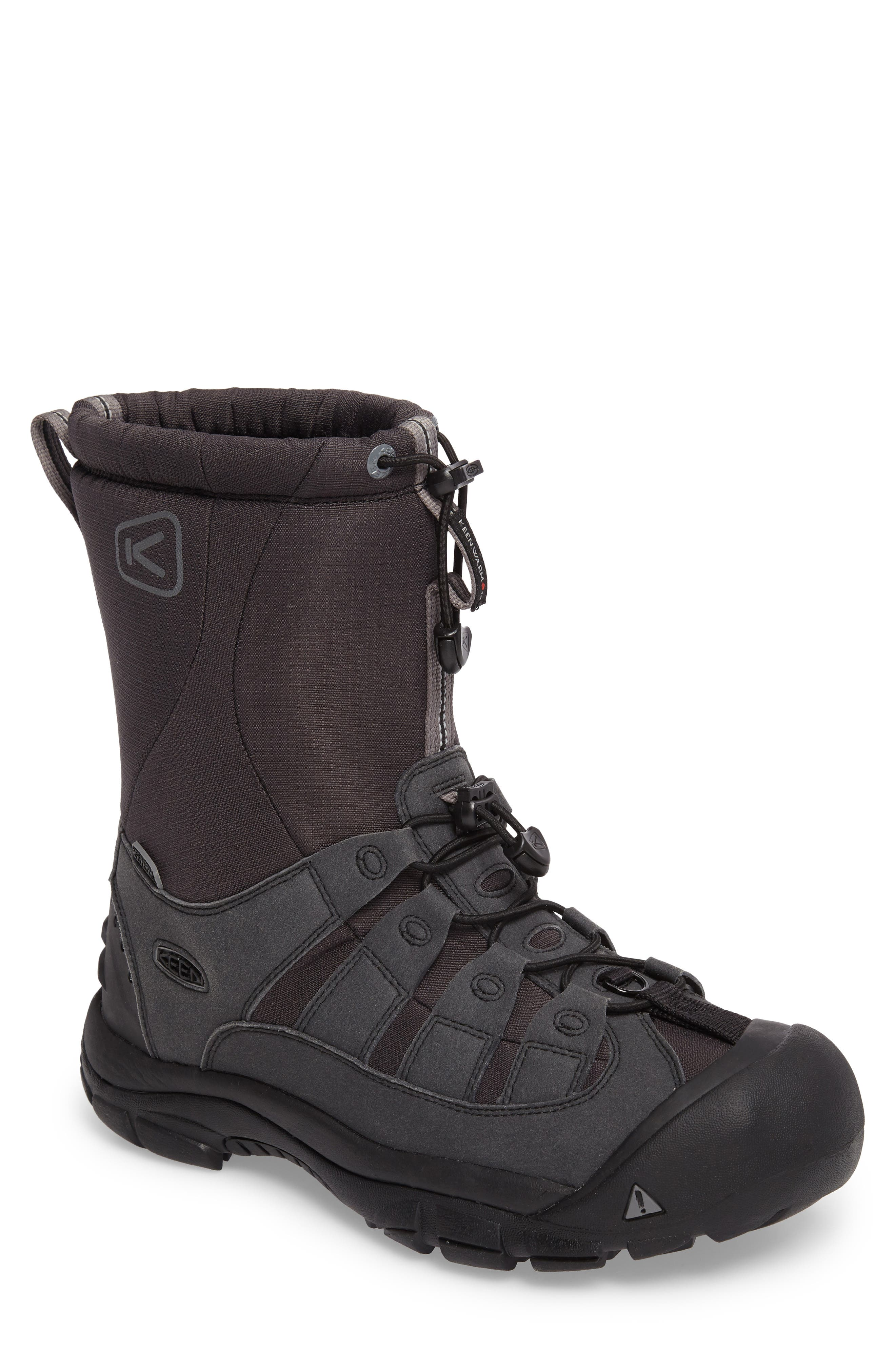 Winterport II Waterproof Insulated Snow Boot,                             Main thumbnail 1, color,                             Black/ Frost Gray