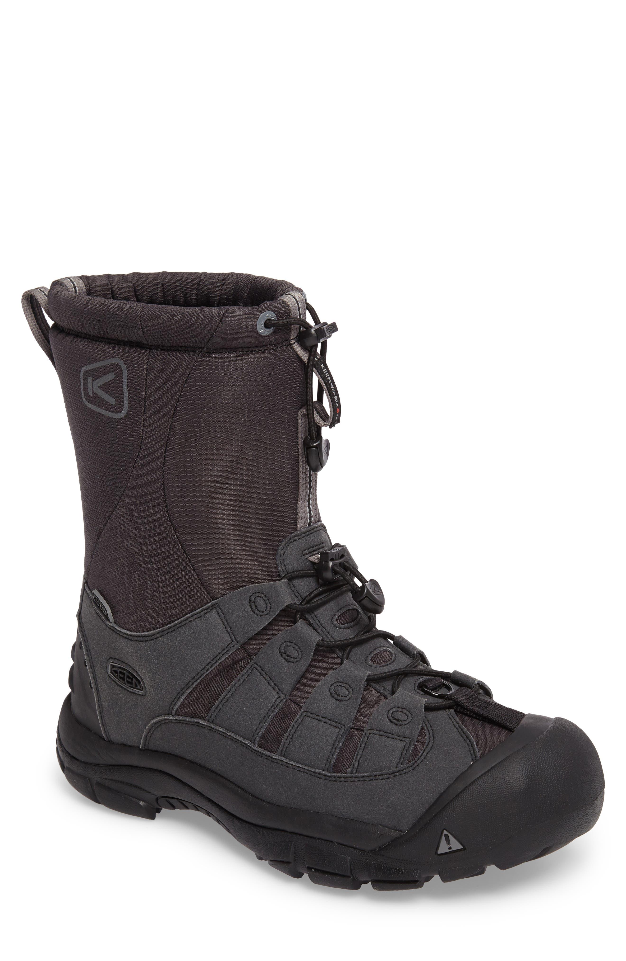Winterport II Waterproof Insulated Snow Boot,                         Main,                         color, Black/ Frost Gray