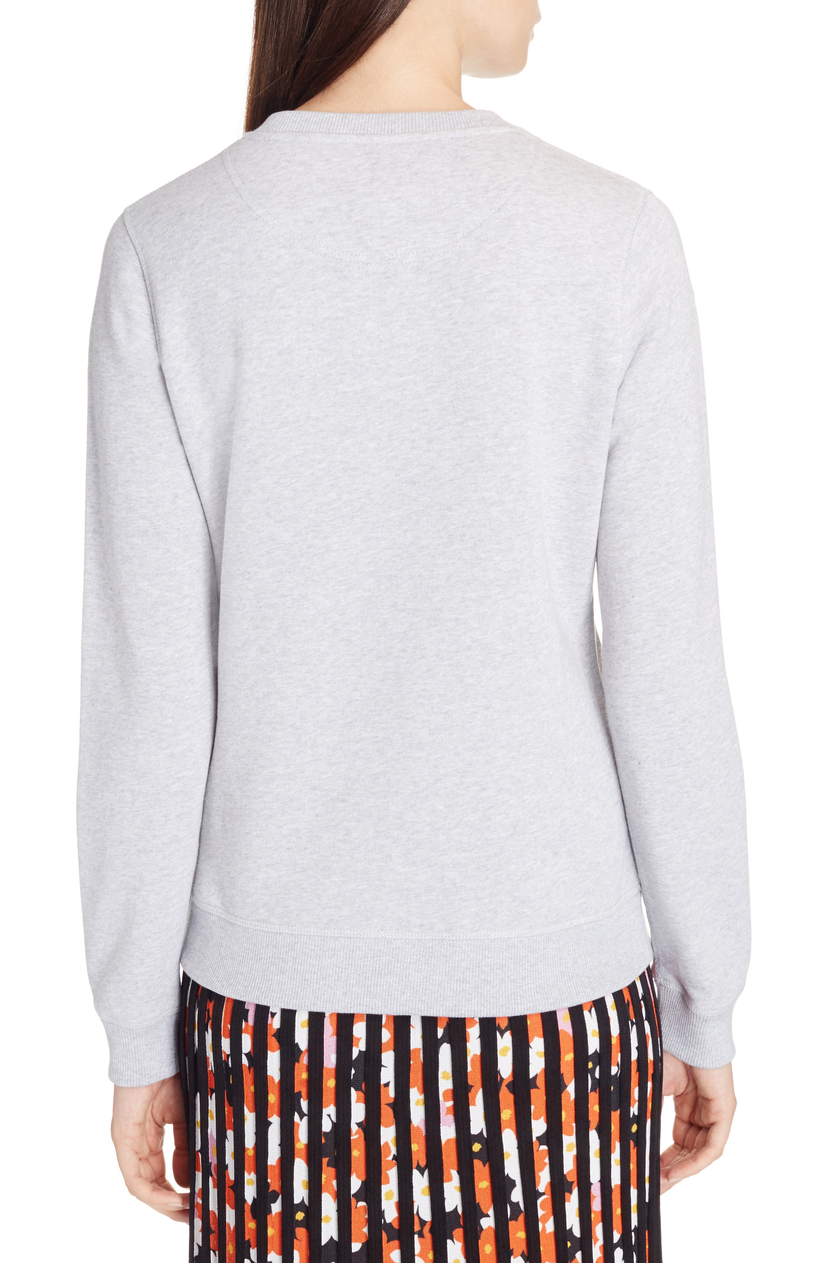 Classic Logo Embroidered Sweatshirt,                             Alternate thumbnail 3, color,                             Grey
