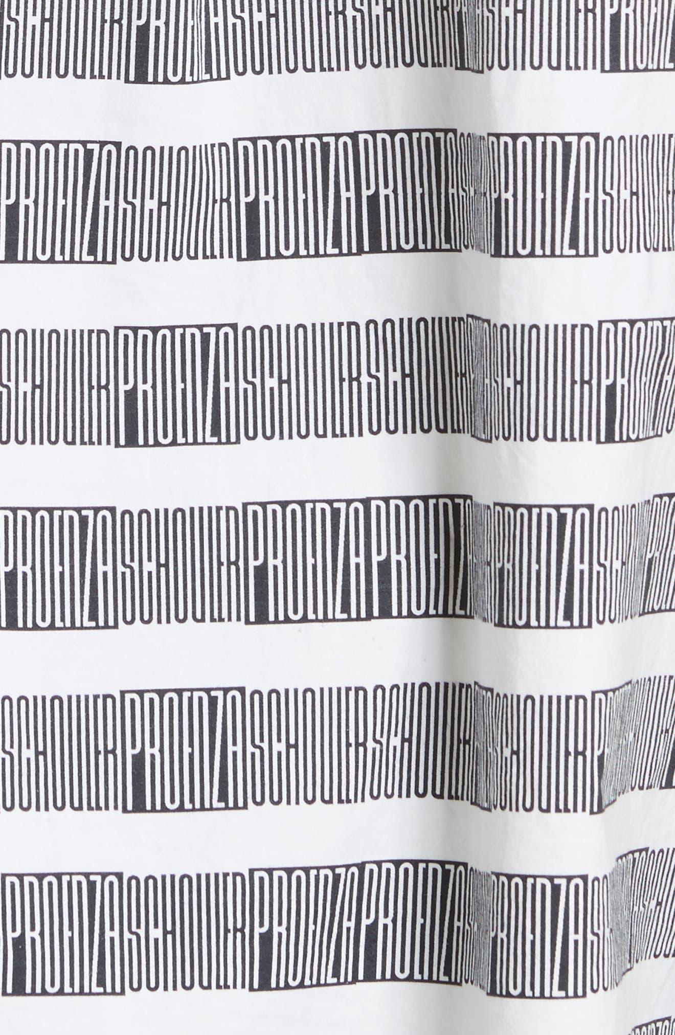Alternate Image 6  - Proenza Schouler PSWL Graphic Stripe Cotton Top
