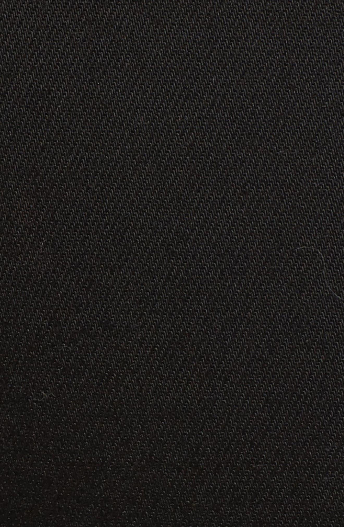 Twisted Tuxedo Crop Skinny Jeans,                             Alternate thumbnail 5, color,                             Eternal Black