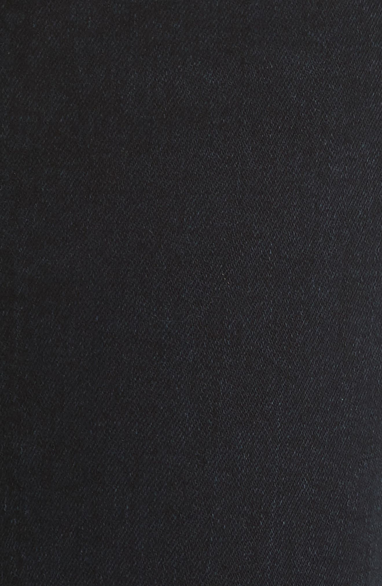 PSWL Crop Kick Flare Jeans,                             Alternate thumbnail 7, color,                             Stone Washed Black