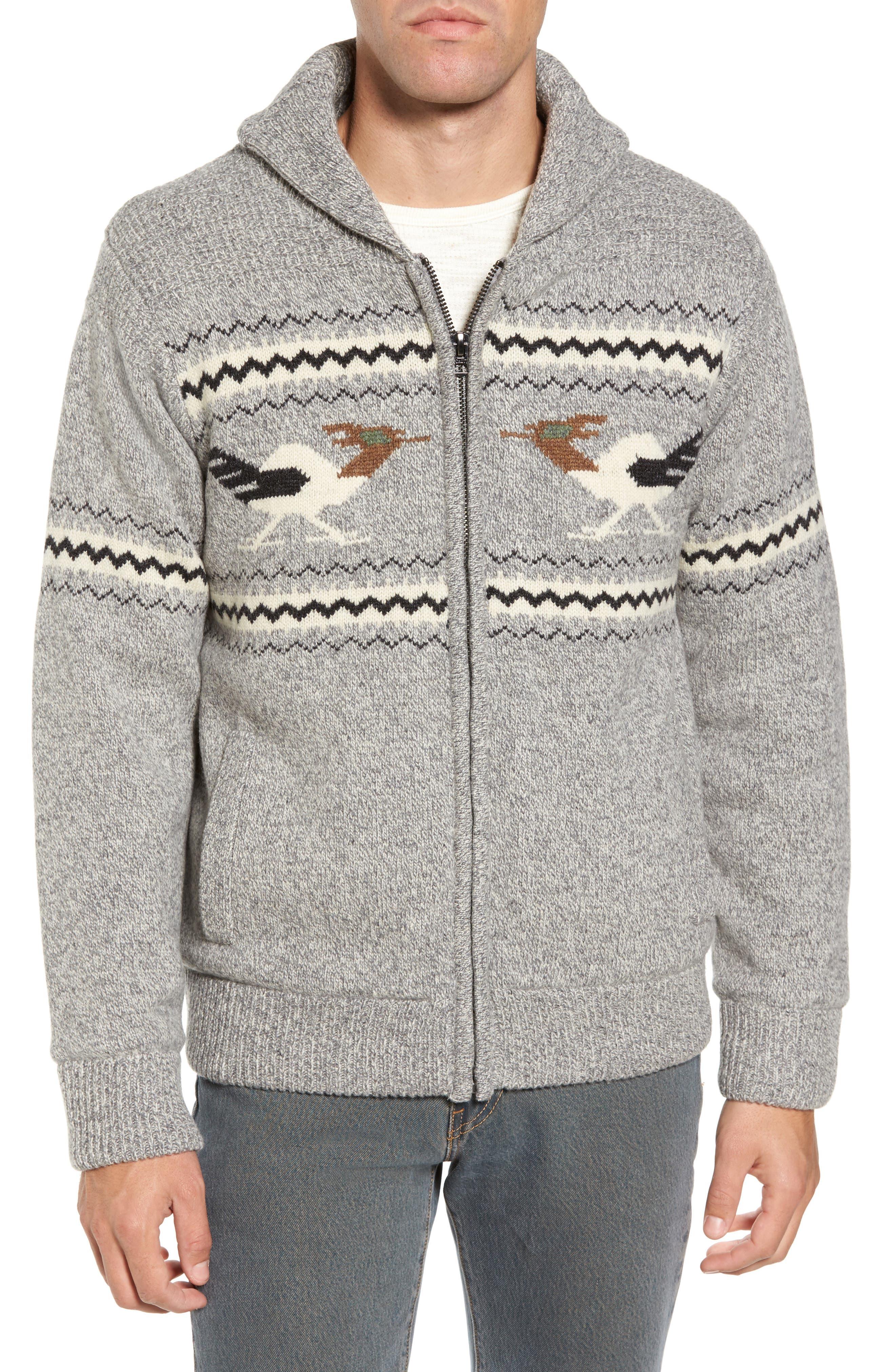 Alternate Image 1 Selected - Schott NYC Road Runner Wool Blend Cardigan